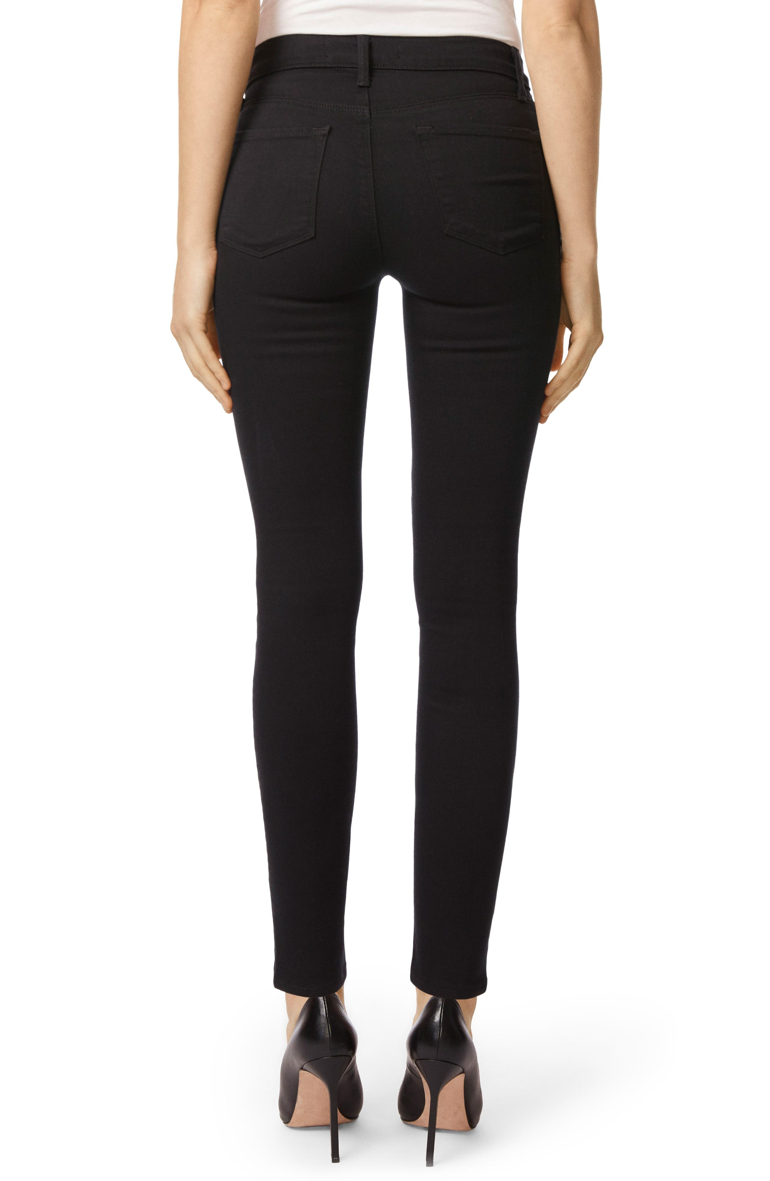 Alternate Image 2  - J Brand Maria High Waist Super Skinny Jeans (Seriously Black)