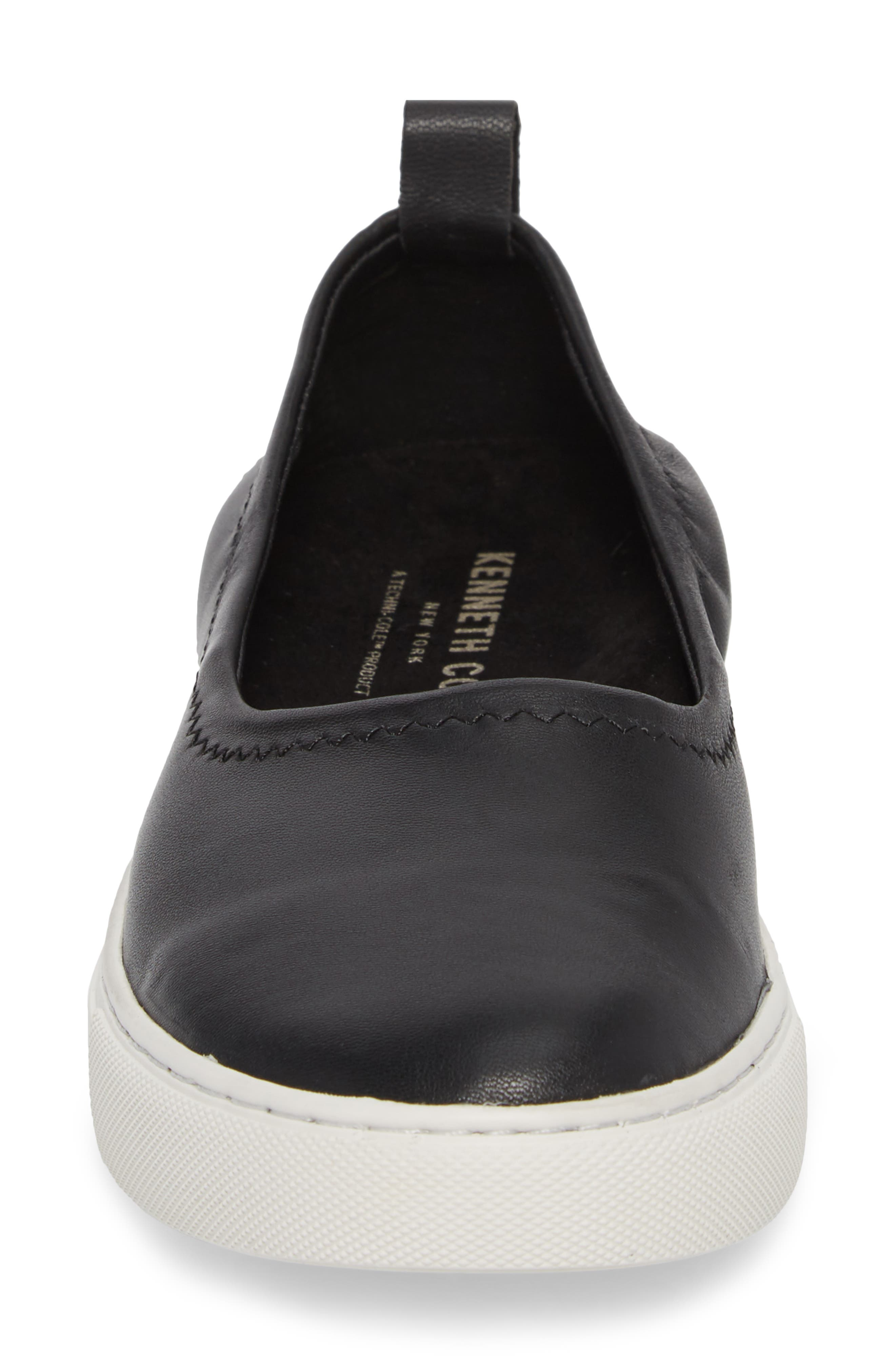 Kam Techni-Cole Ballet Flat,                             Alternate thumbnail 4, color,                             Black Leather