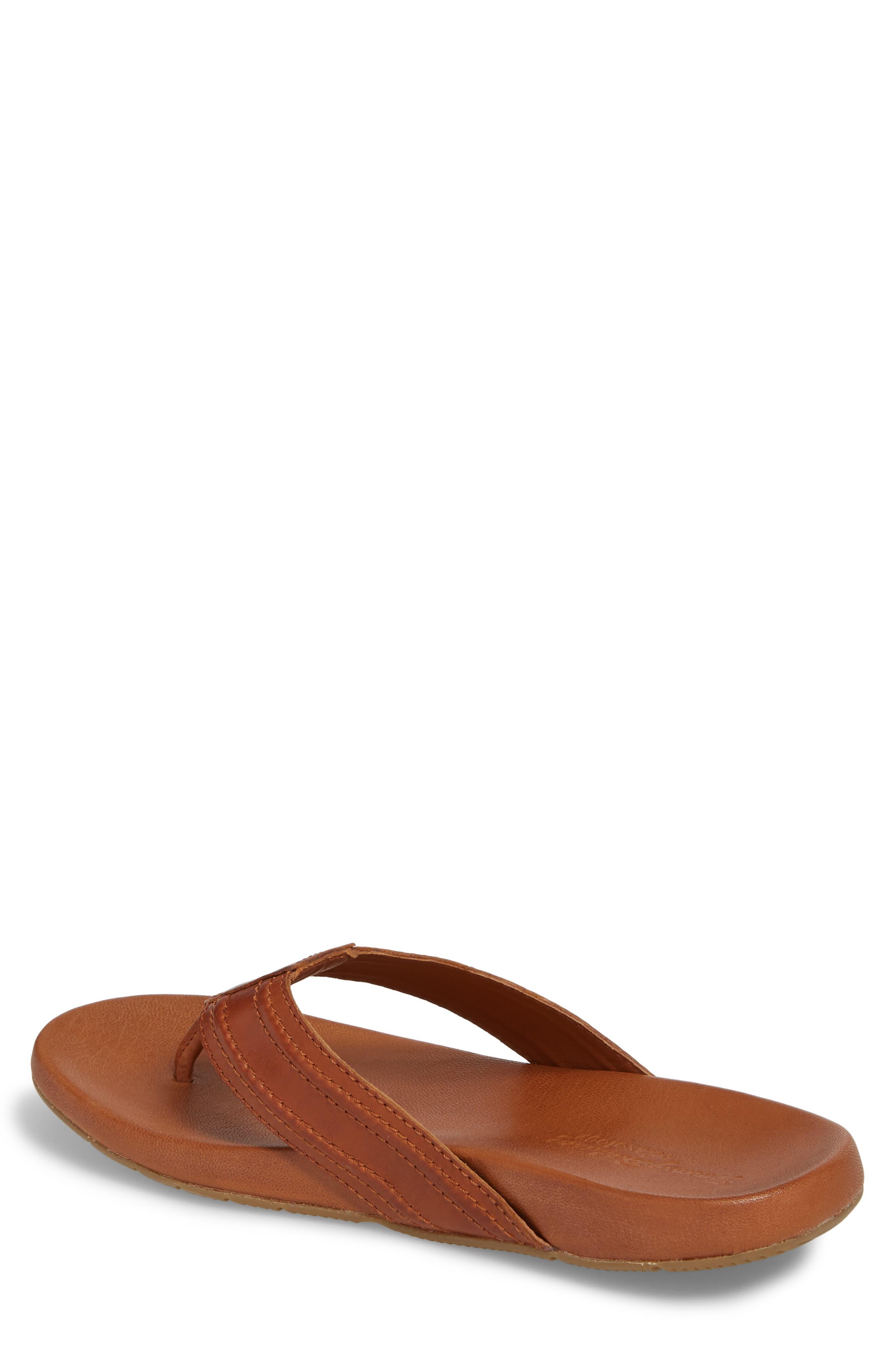 Mayaguana Flip Flop,                             Alternate thumbnail 2, color,                             Tan Leather