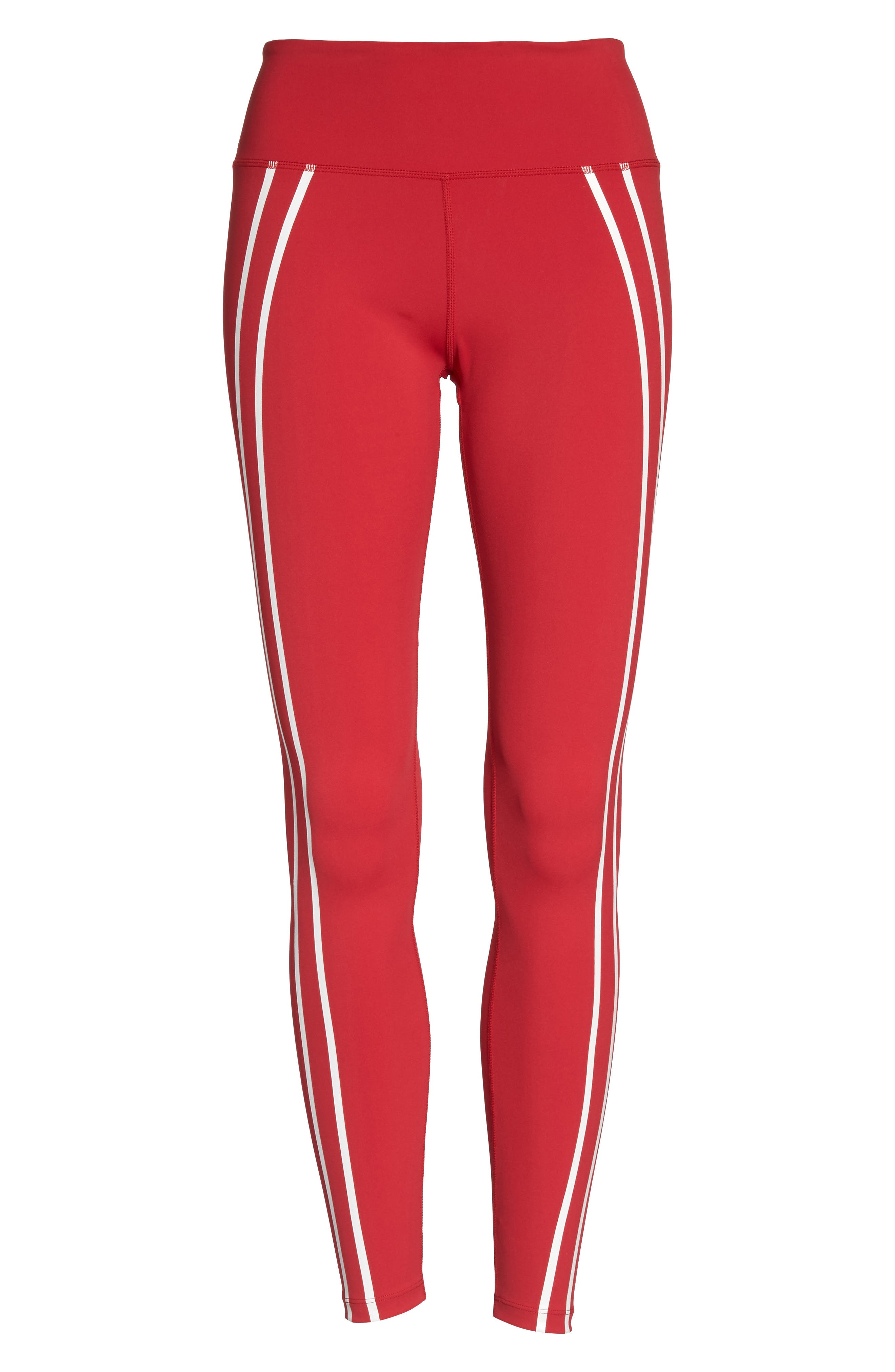 Distance Tights,                             Alternate thumbnail 7, color,                             Havana Red/ Off White