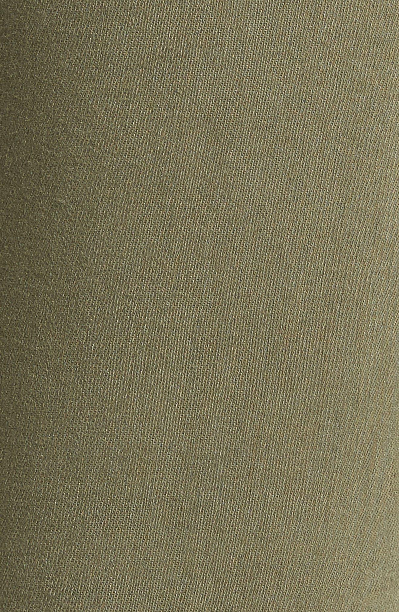 Hoxton High Waist Crop Skinny Jeans,                             Alternate thumbnail 6, color,                             Vintage Green