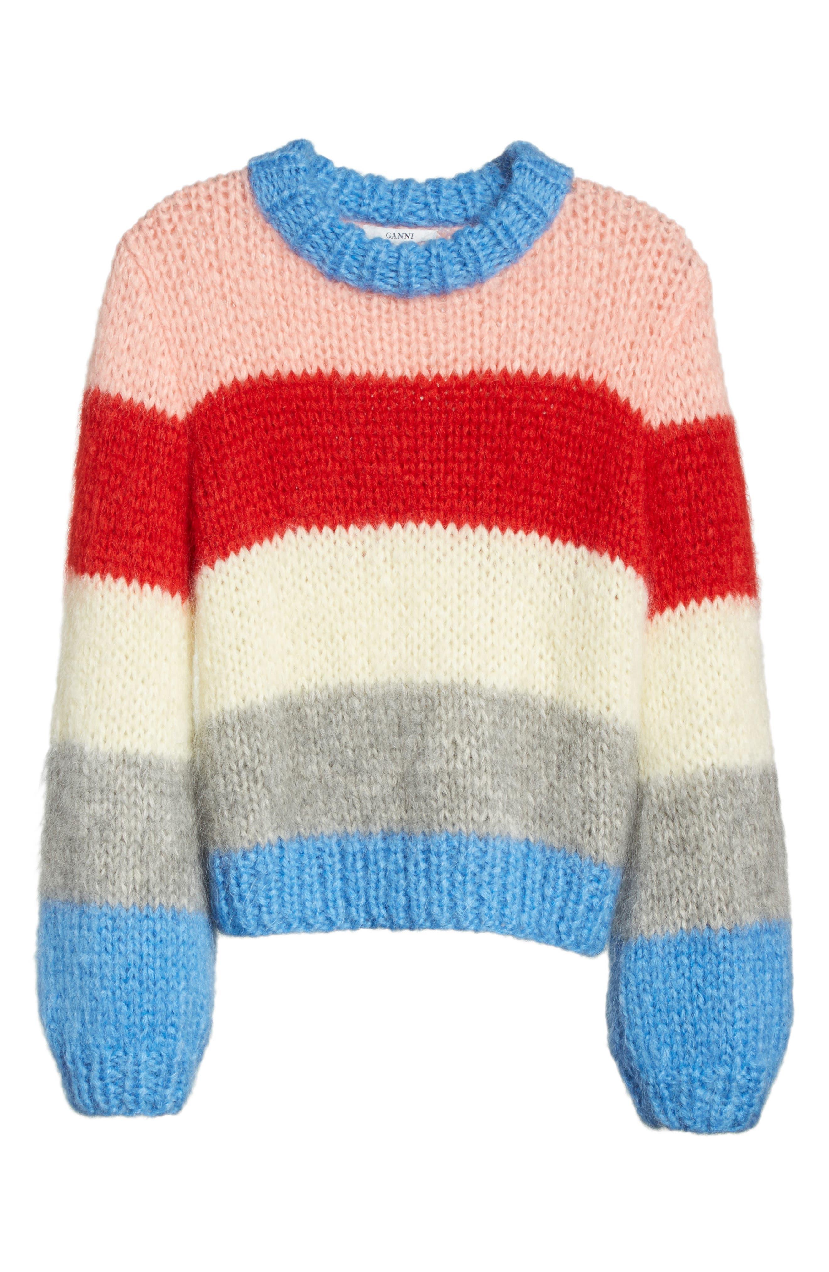 Alternate Image 6  - GANNI Julliard Multistripe Sweater