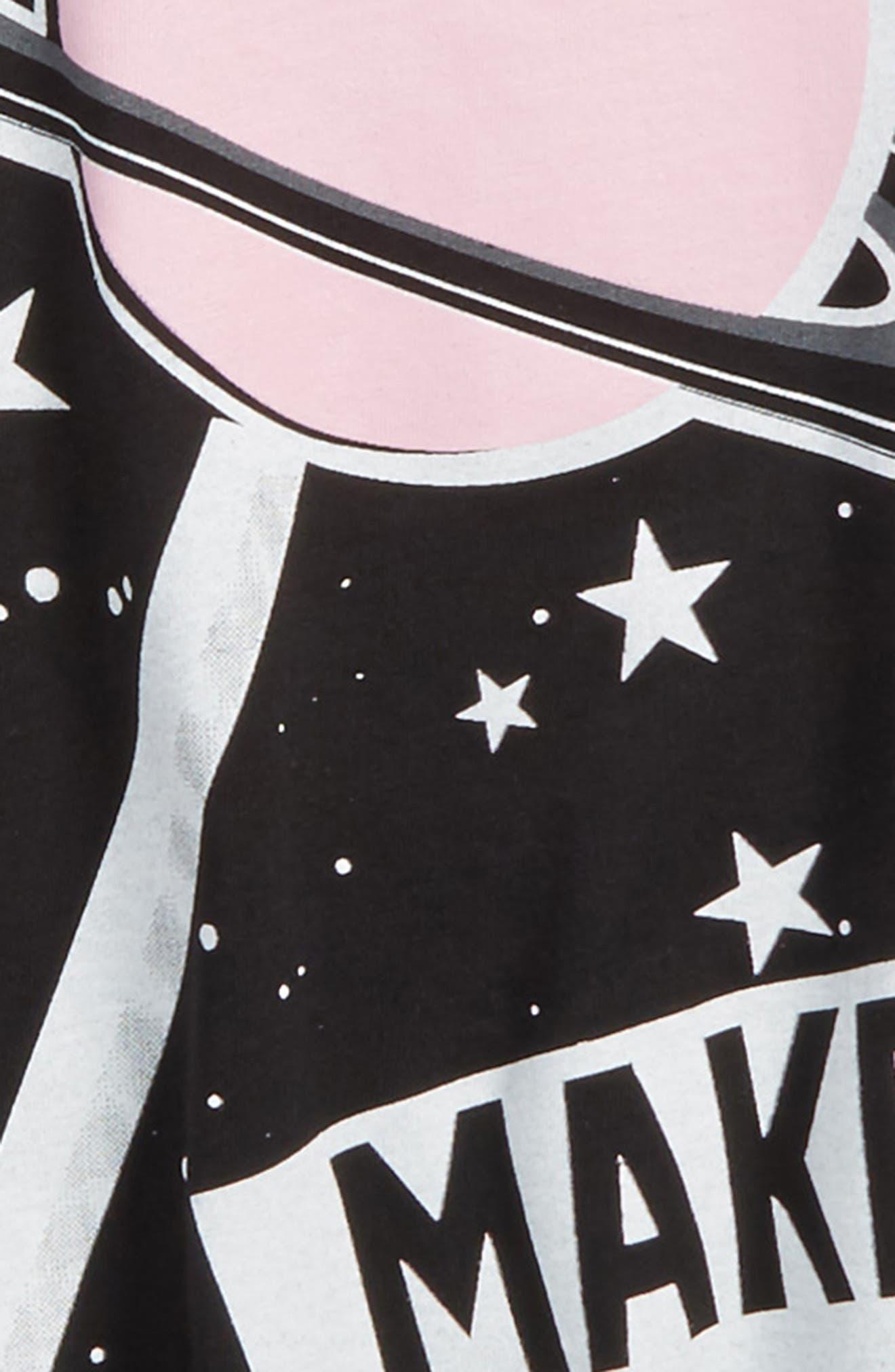 Space Lollipop Twirl Dress,                             Alternate thumbnail 3, color,                             Black Pink