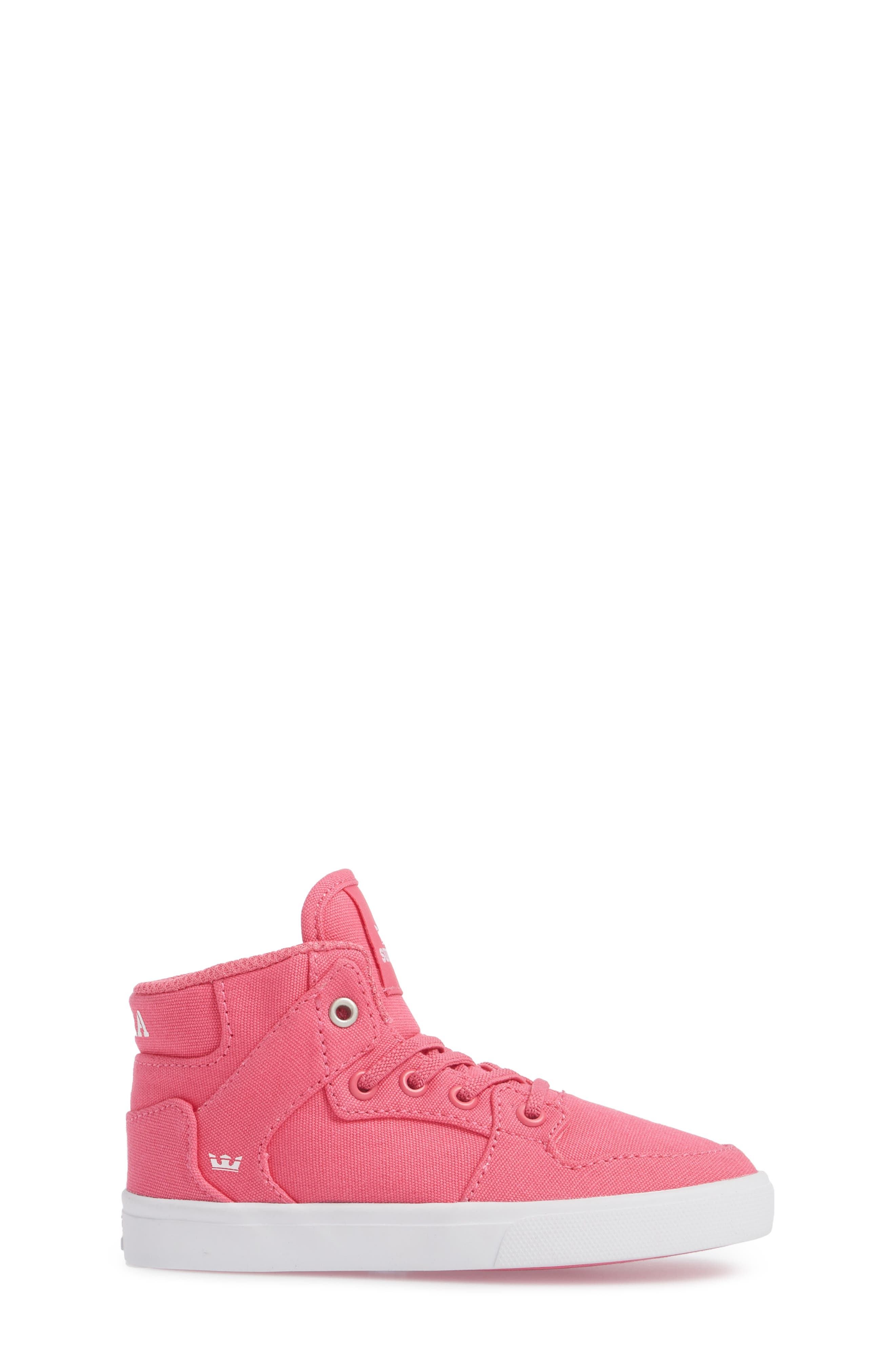 'Vaider' High Top Sneaker,                             Alternate thumbnail 3, color,                             Pink