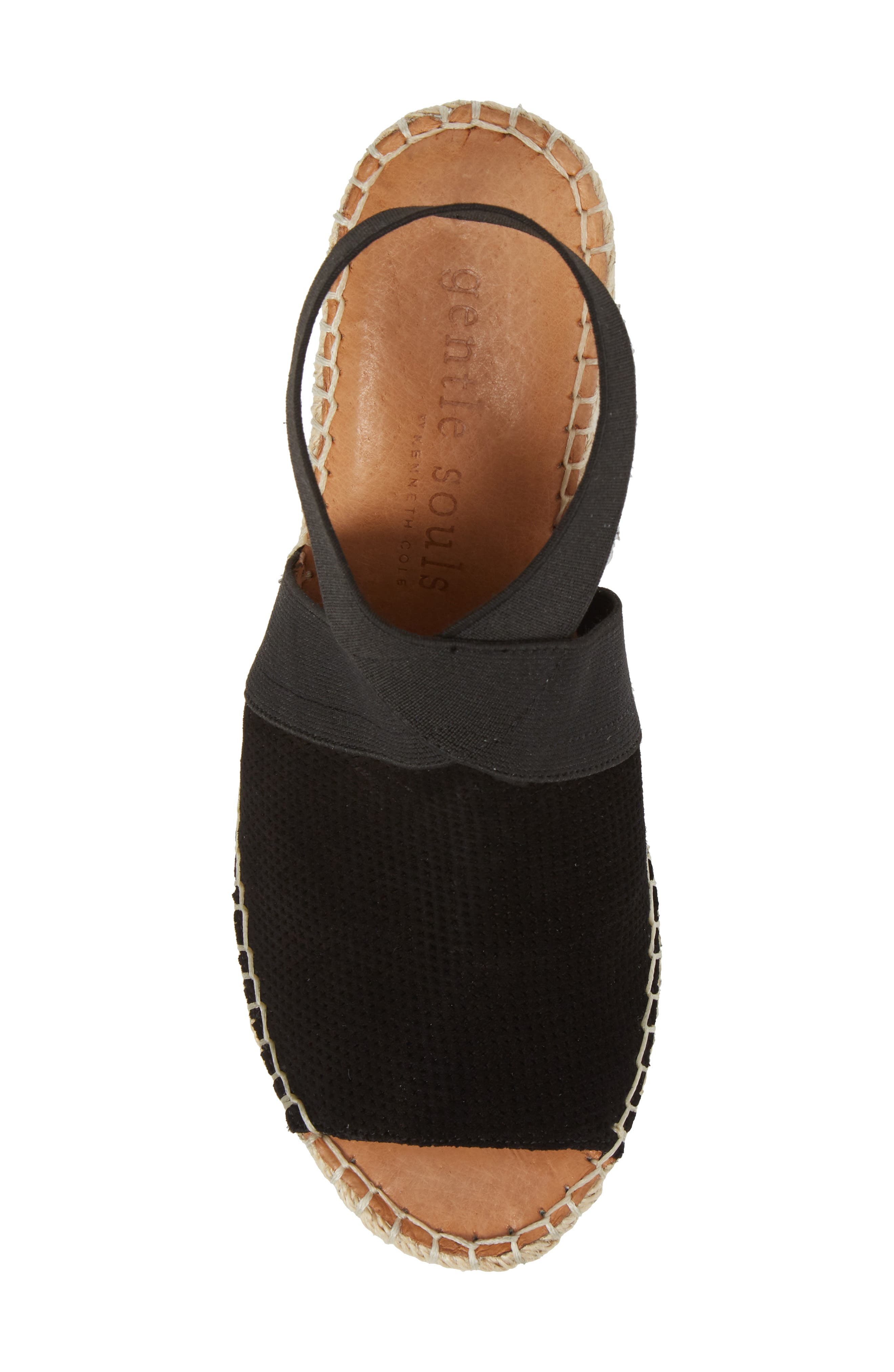 by Kenneth Cole Colleen Espadrille Wedge,                             Alternate thumbnail 5, color,                             Black Suede