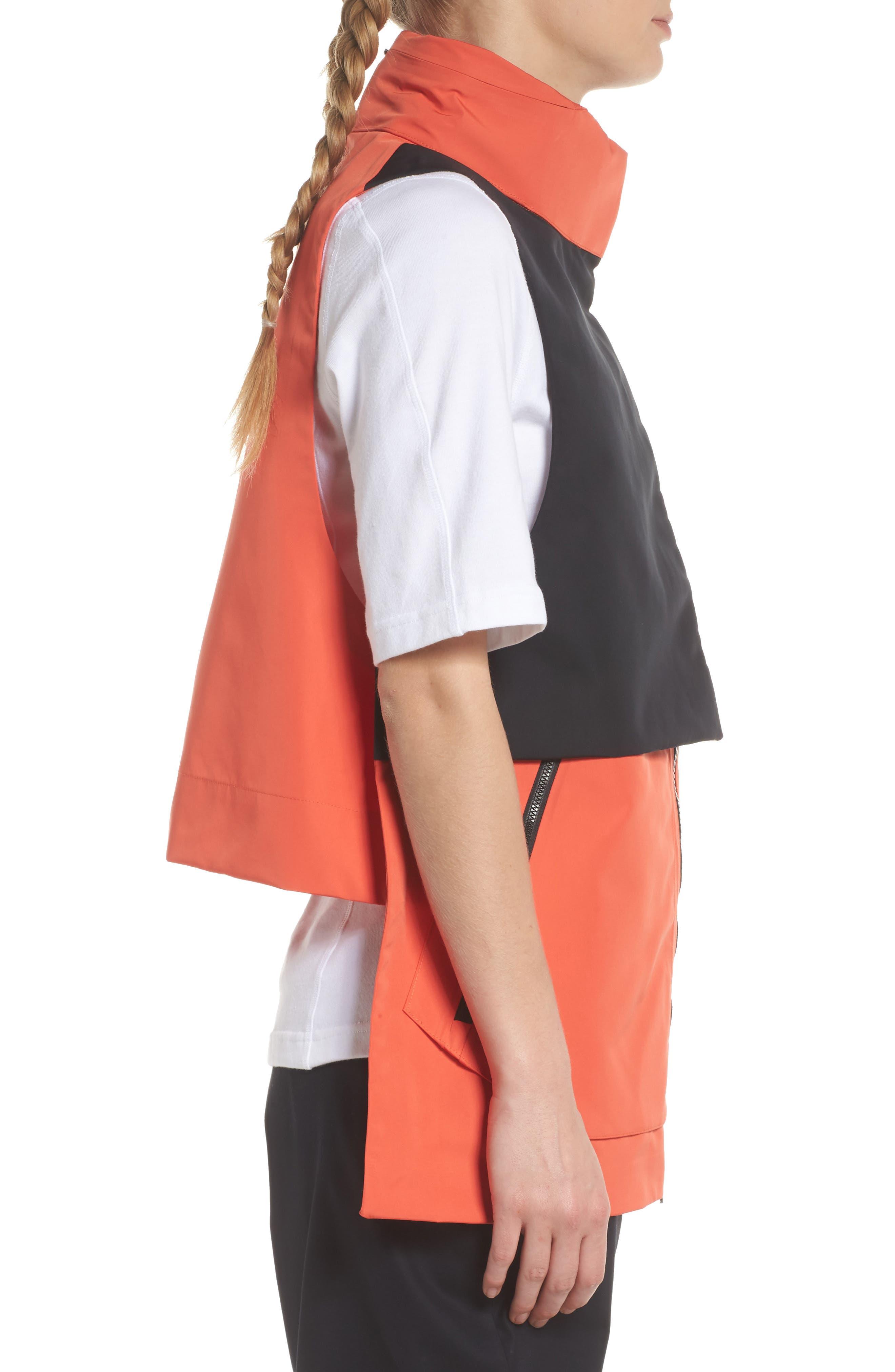 NikeLab ACG Water Repellent Women's Hooded Vest,                             Alternate thumbnail 3, color,                             Team Orange/ Team Orange