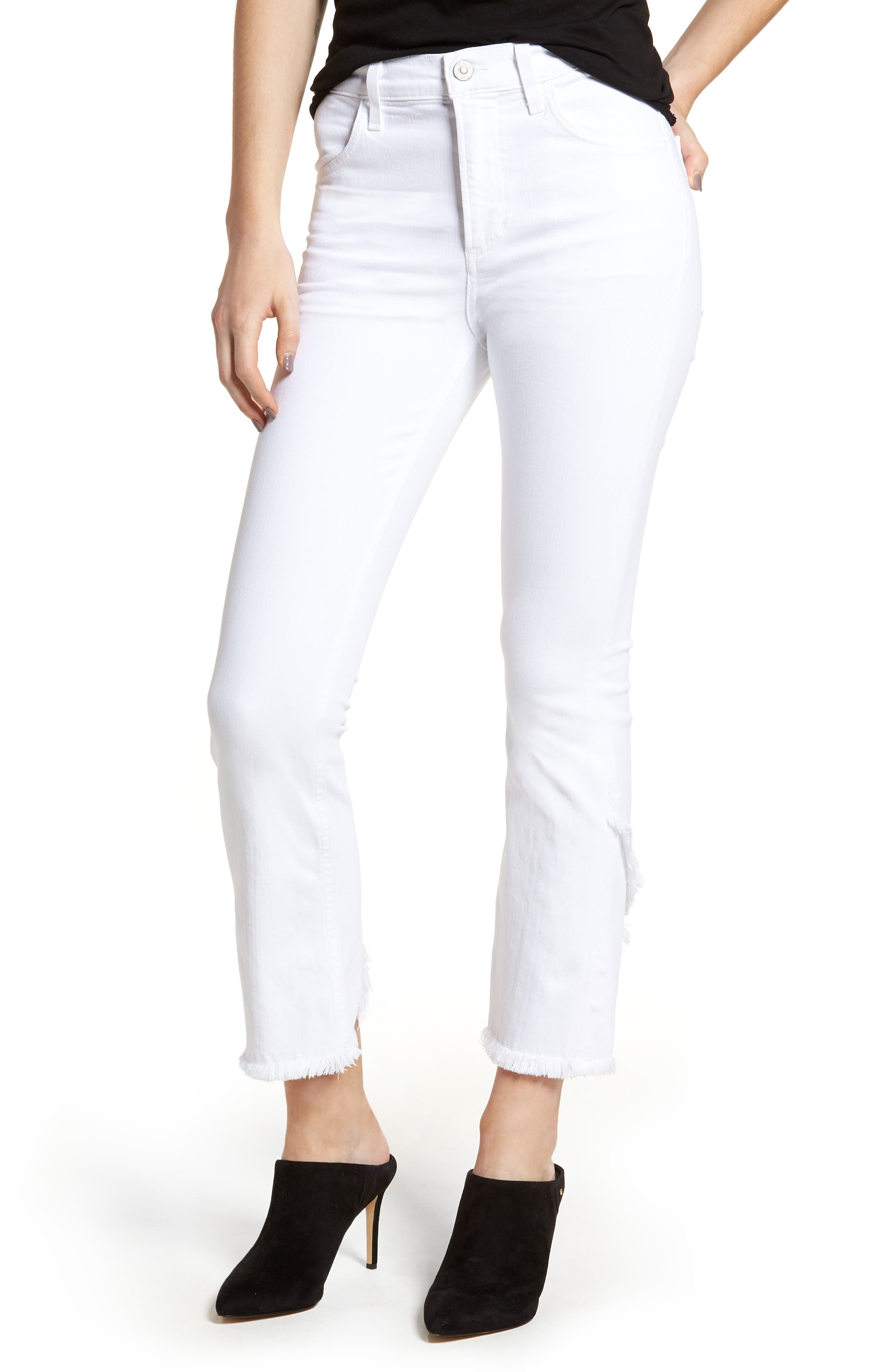 Drew Flare Jeans,                         Main,                         color, Optic White