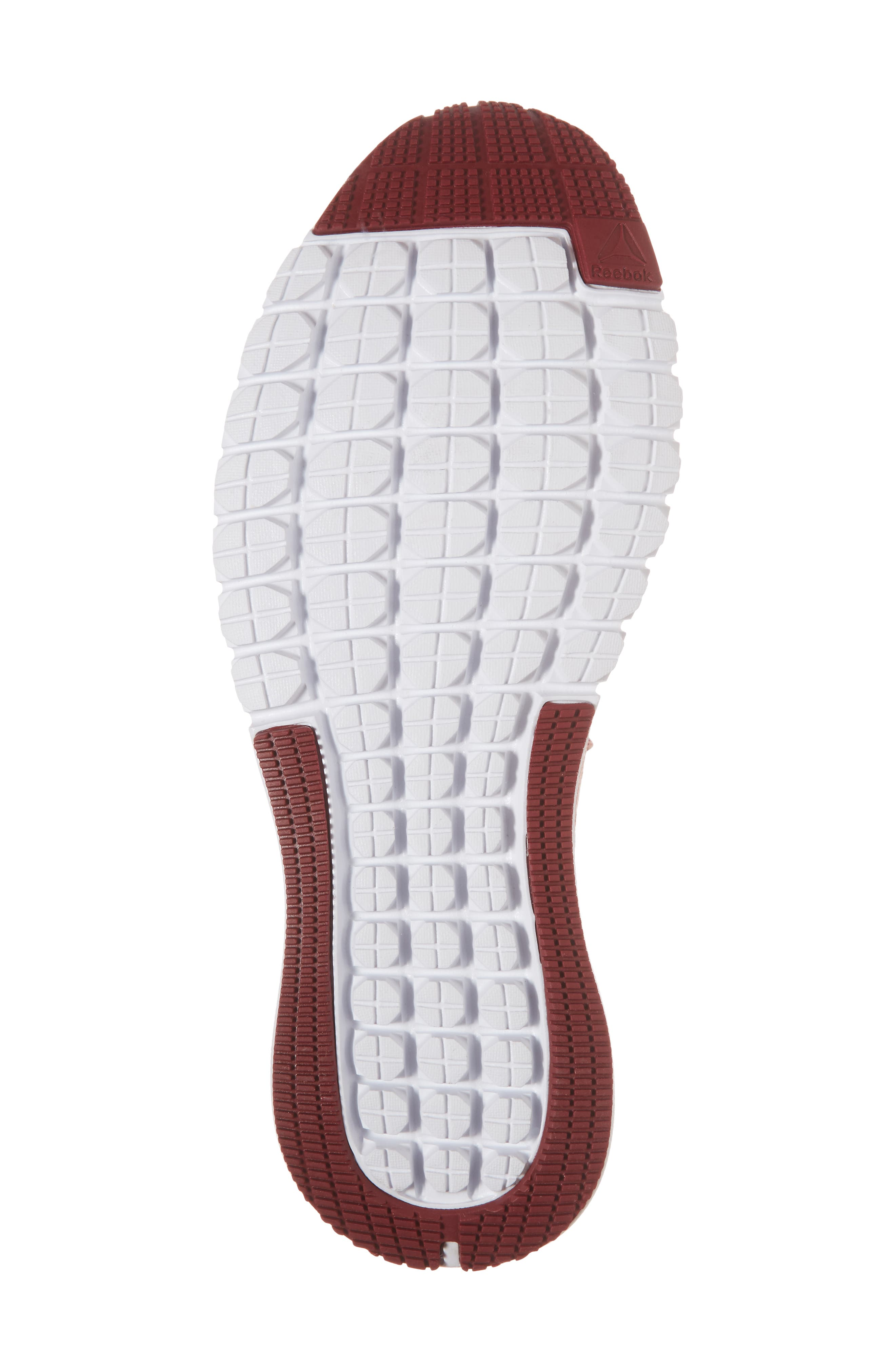 Print Run Smooth Ultra Knit Running Shoe,                             Alternate thumbnail 6, color,                             Chalk Pink/ Urban Maroon
