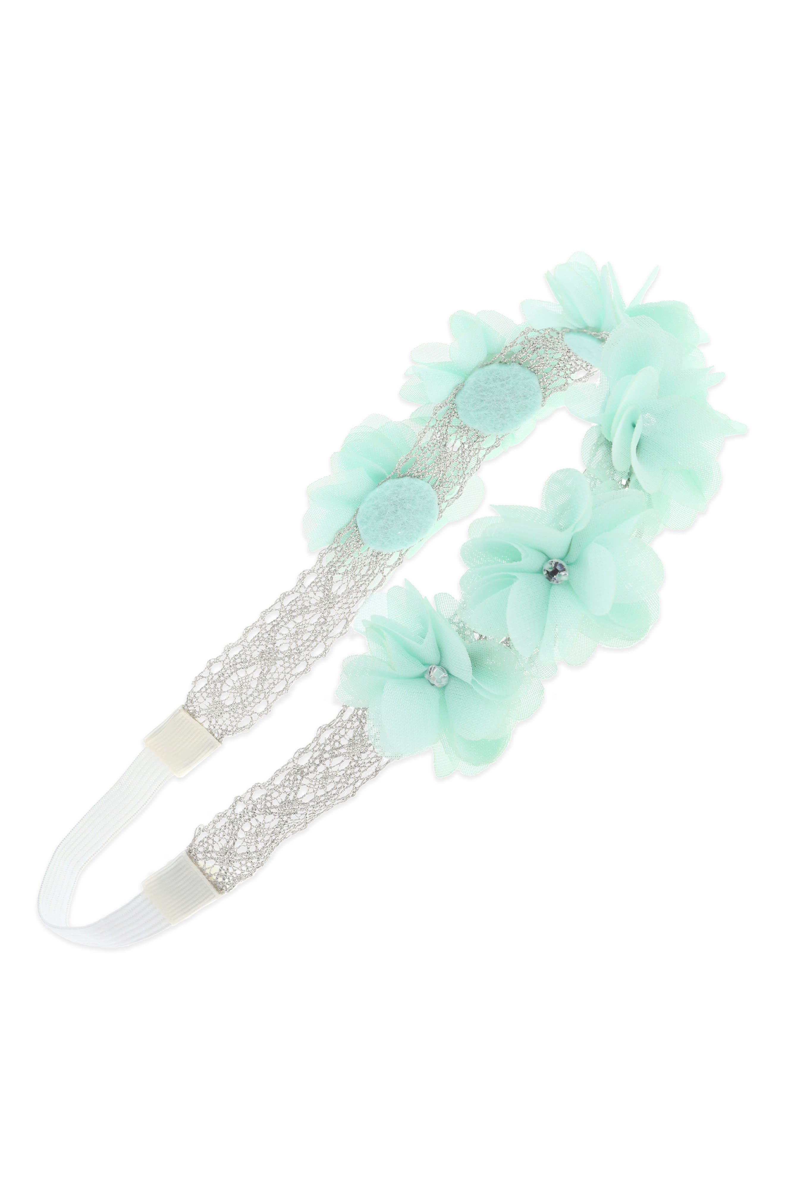 Capelli New York Crochet Lace Flower Head Wrap (Girls)
