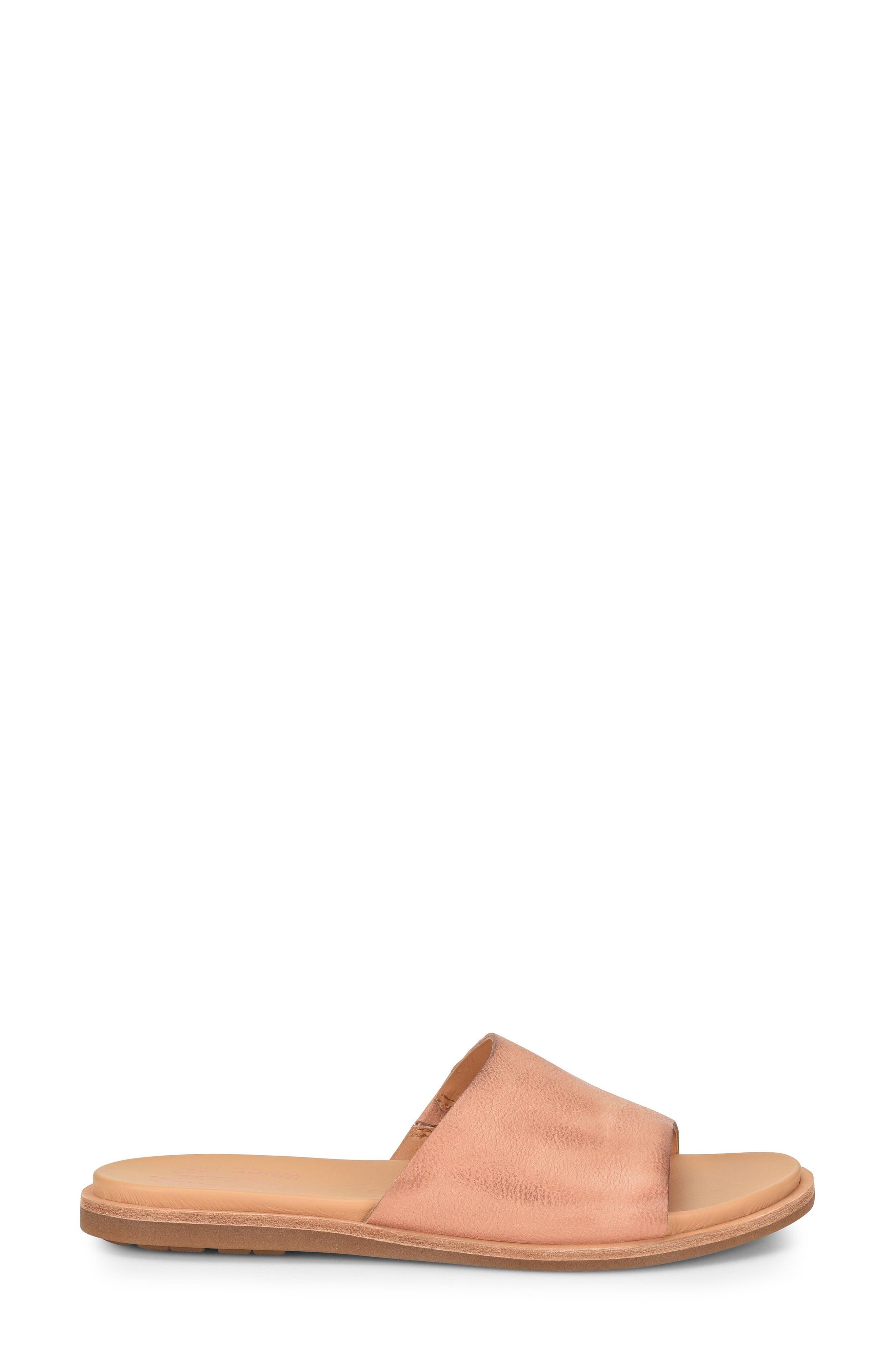 Gila Slide Sandal,                             Alternate thumbnail 3, color,                             Blush Leather