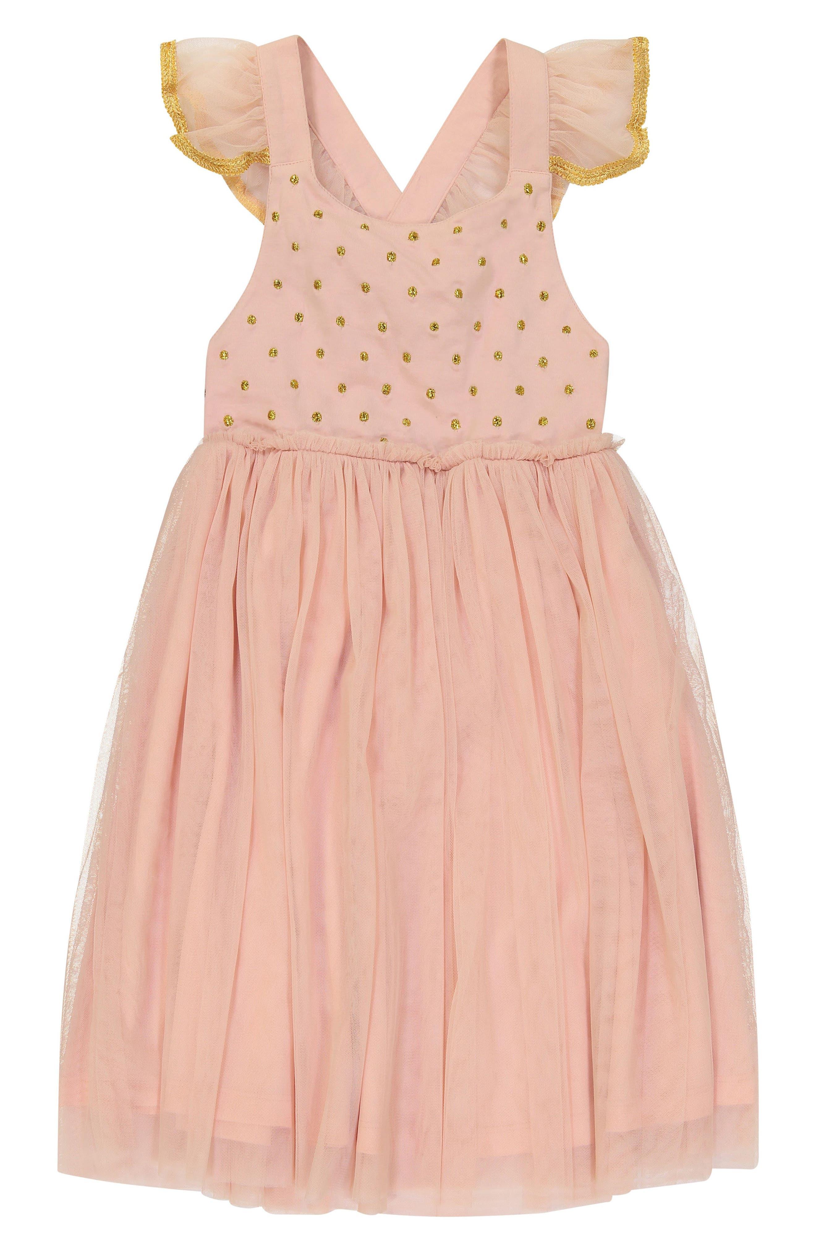 Diya Tulle Sundress,                         Main,                         color, Blush