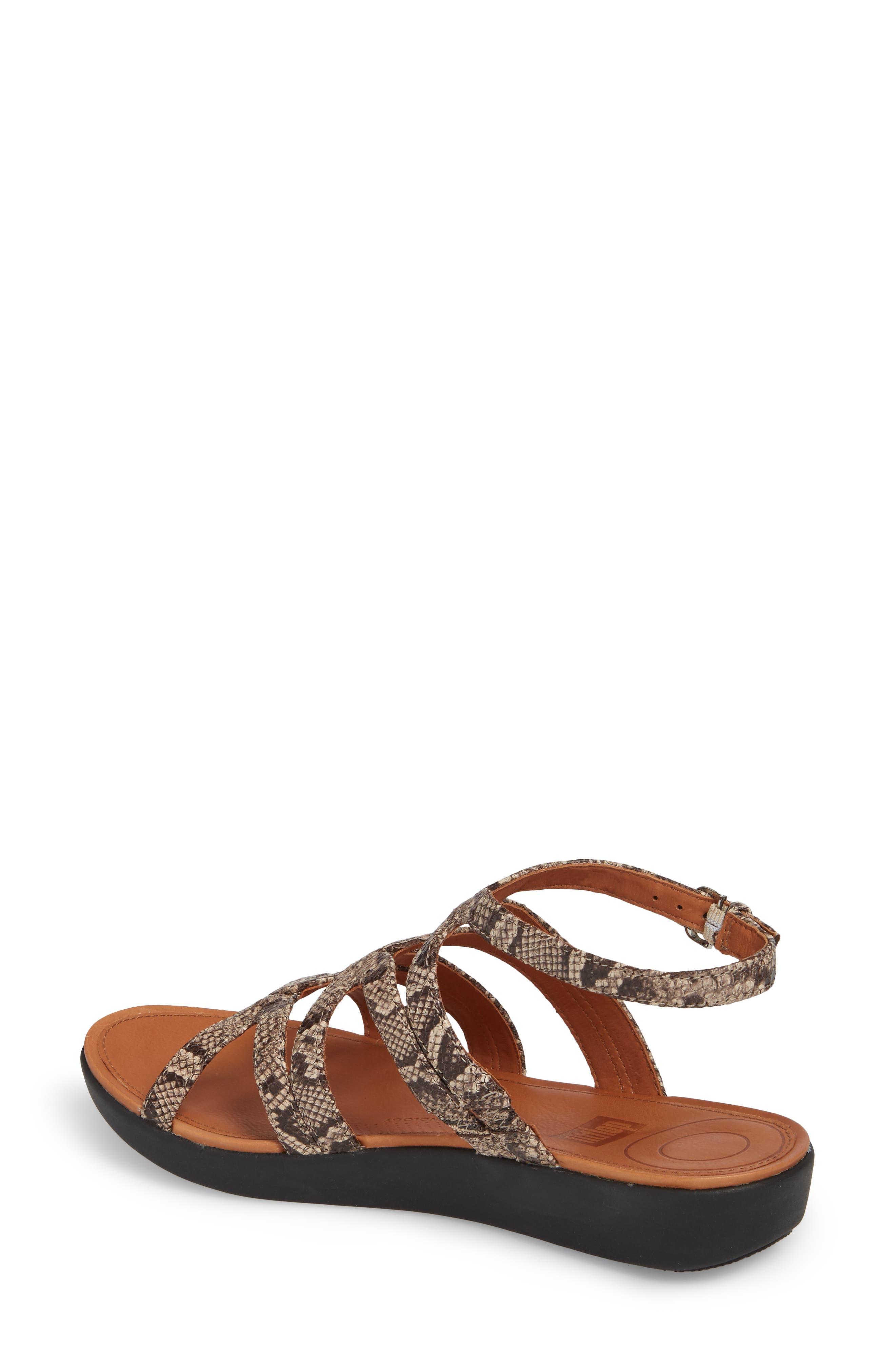 Strata Gladiator Sandal,                             Alternate thumbnail 2, color,                             Taupe Snake Print Leather