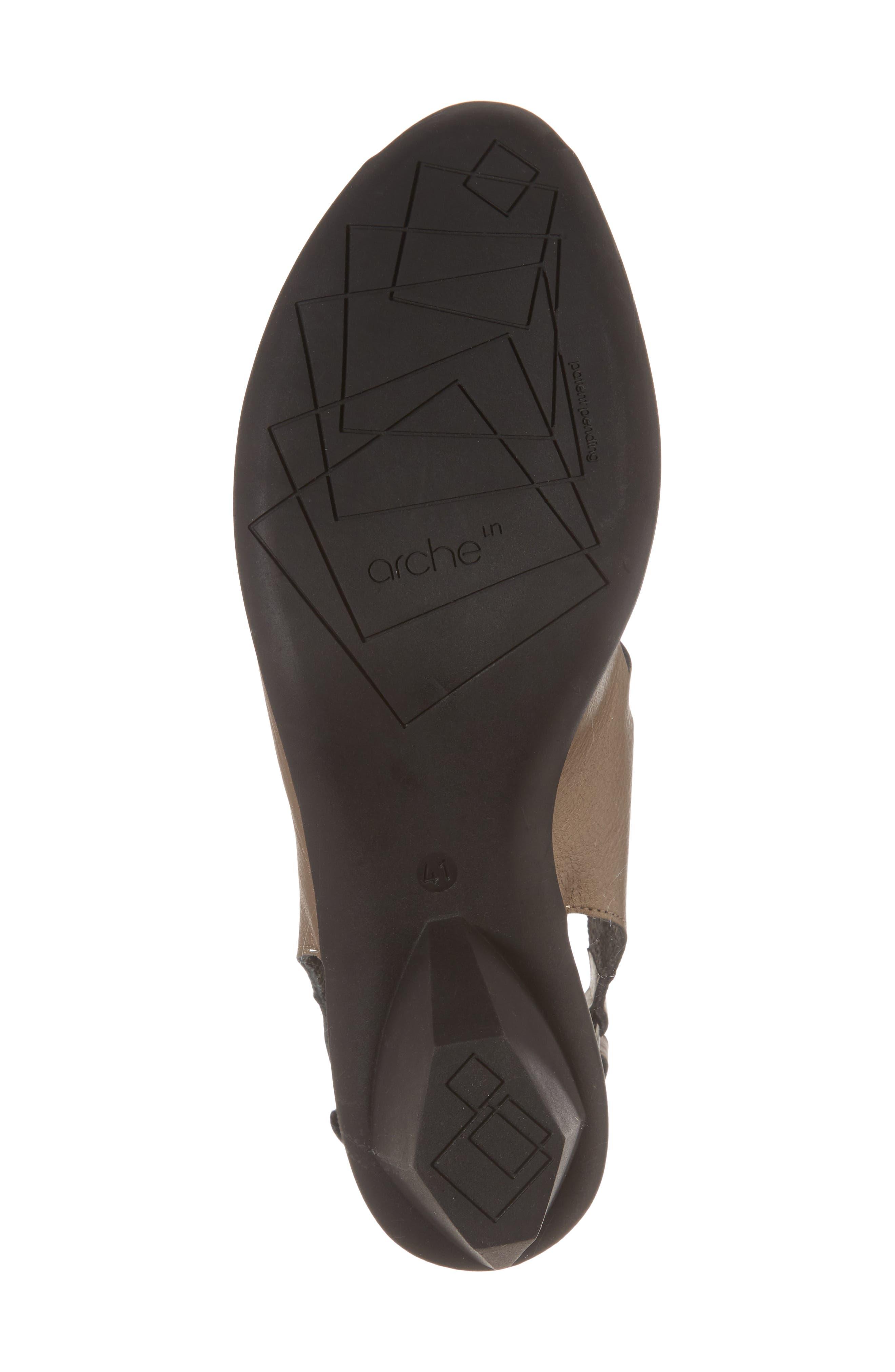 Enexor Sandal,                             Alternate thumbnail 6, color,                             Moon/ Noir Leather
