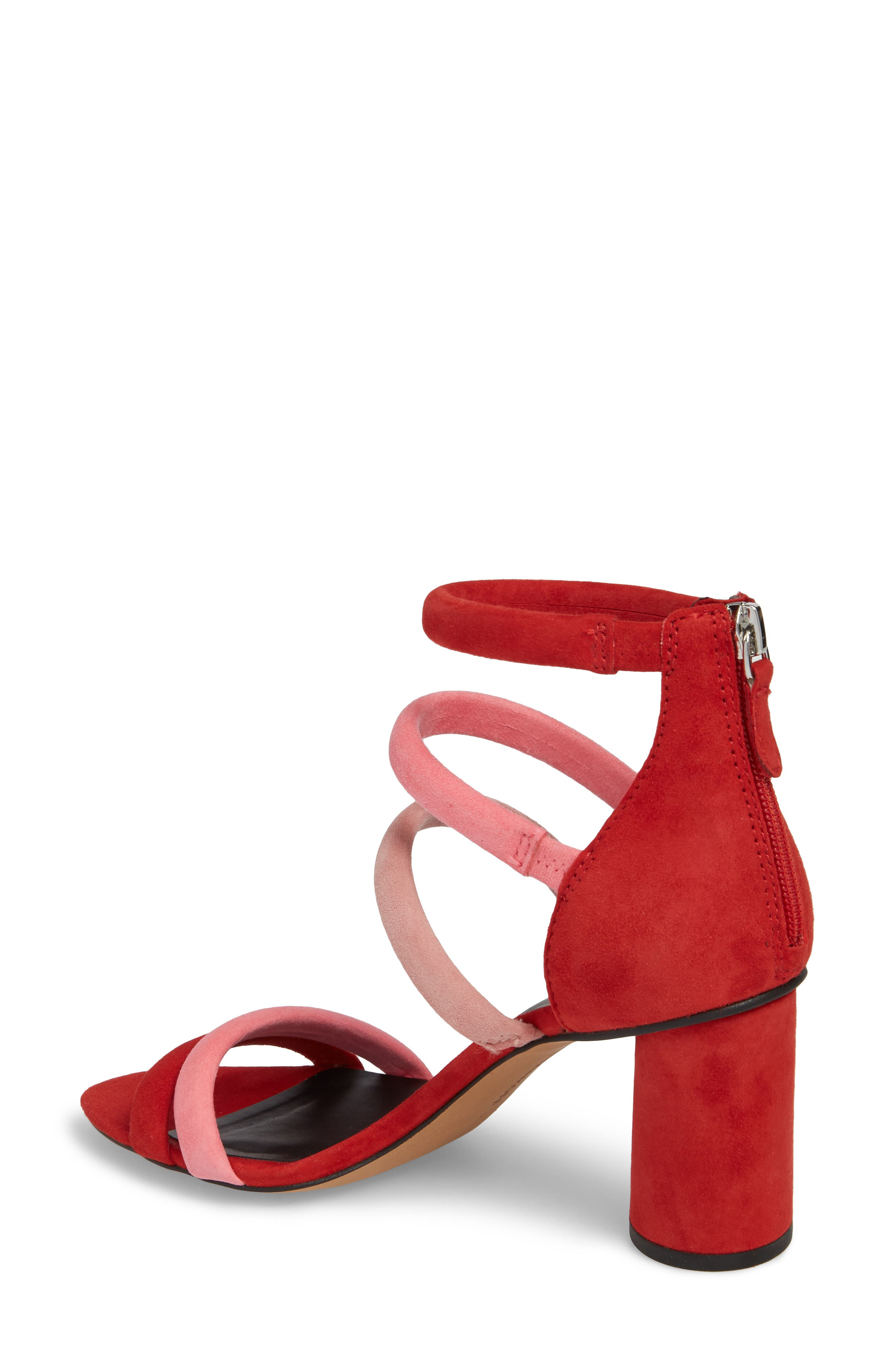 Andree Sandal,                             Alternate thumbnail 2, color,                             Cherry Suede