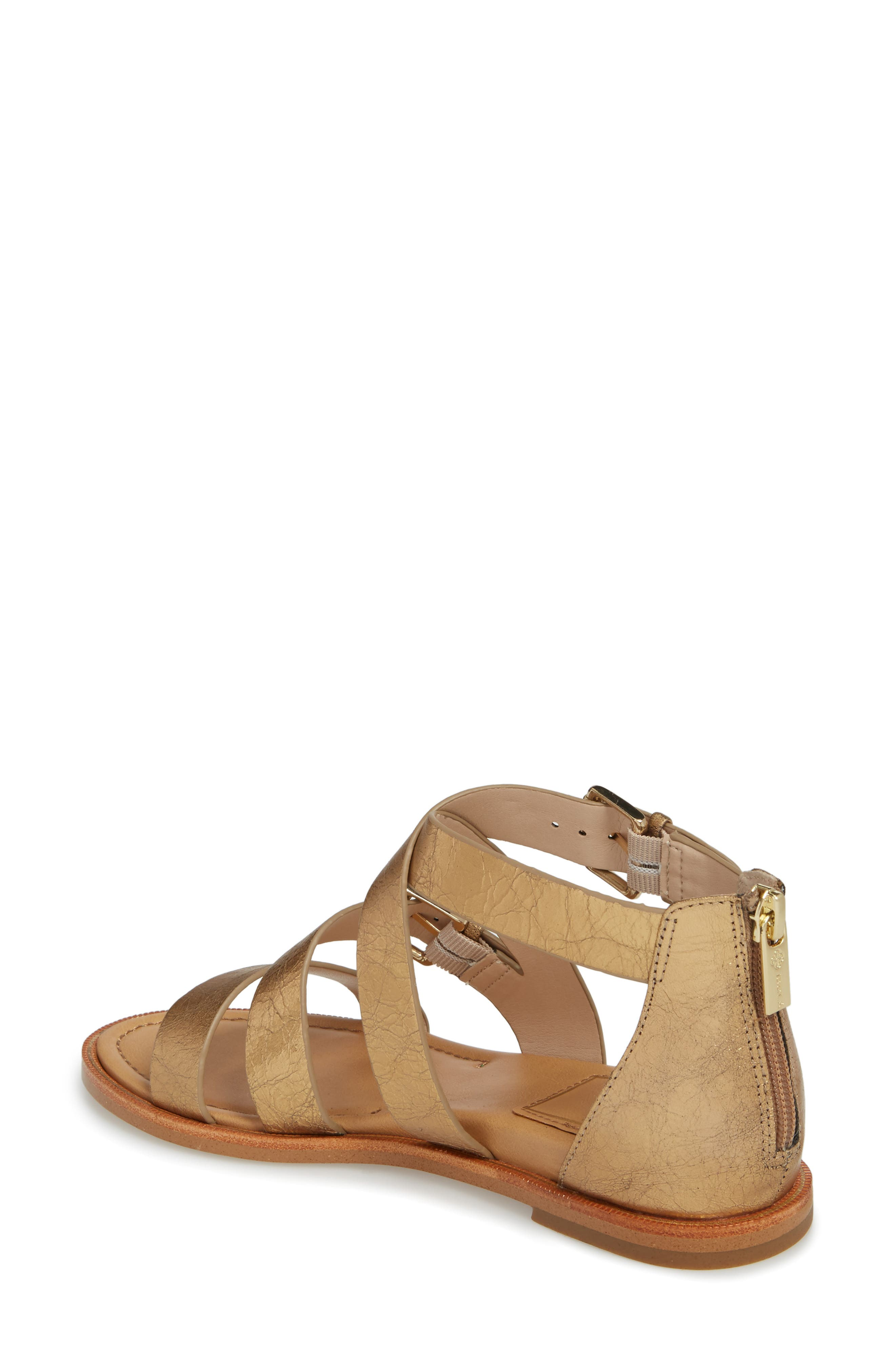 Isola Sharni Sandal,                             Alternate thumbnail 2, color,                             Old Gold Leather