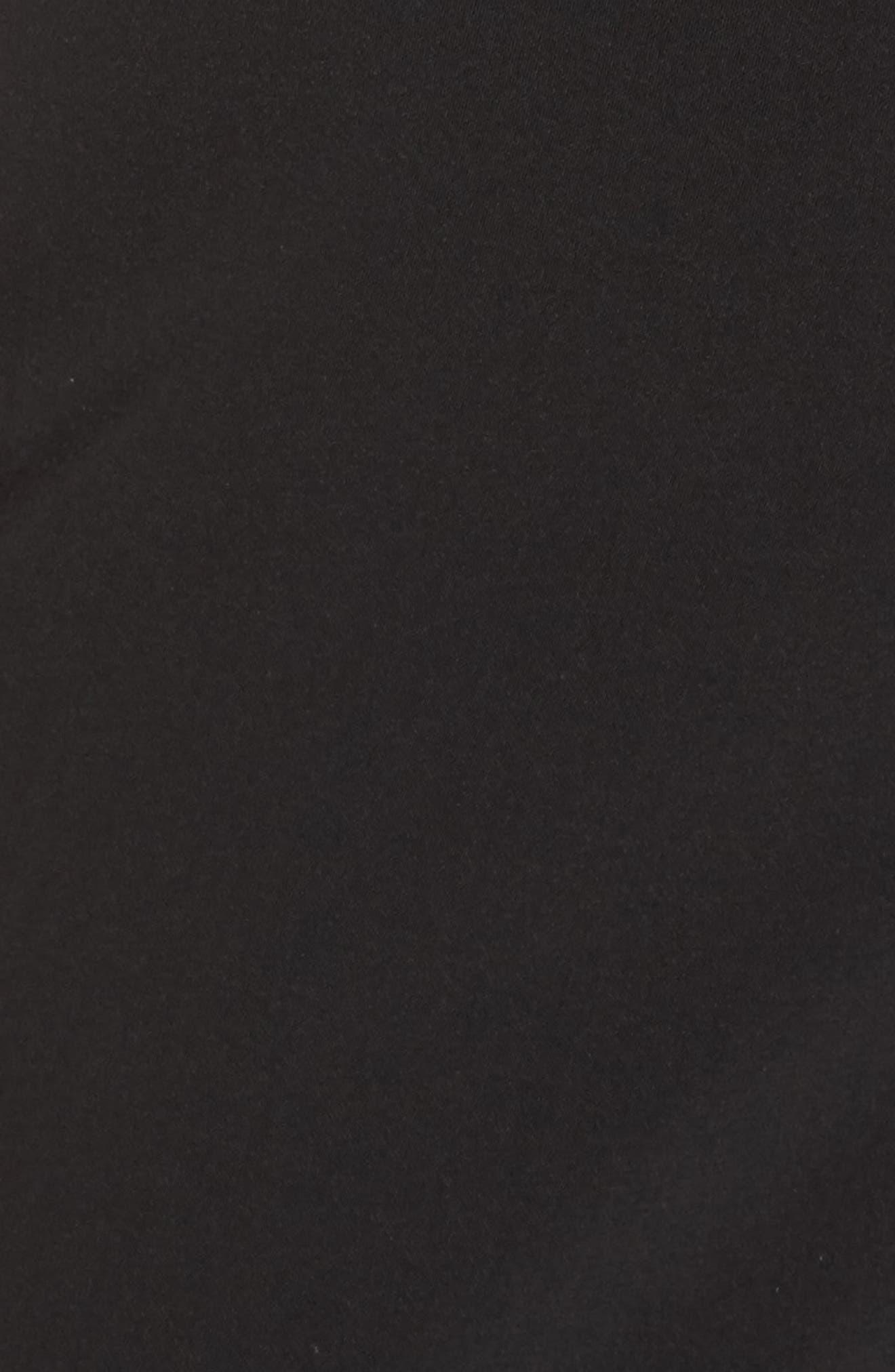 No Love One-Shoulder Crop Jumpsuit,                             Alternate thumbnail 6, color,                             Black