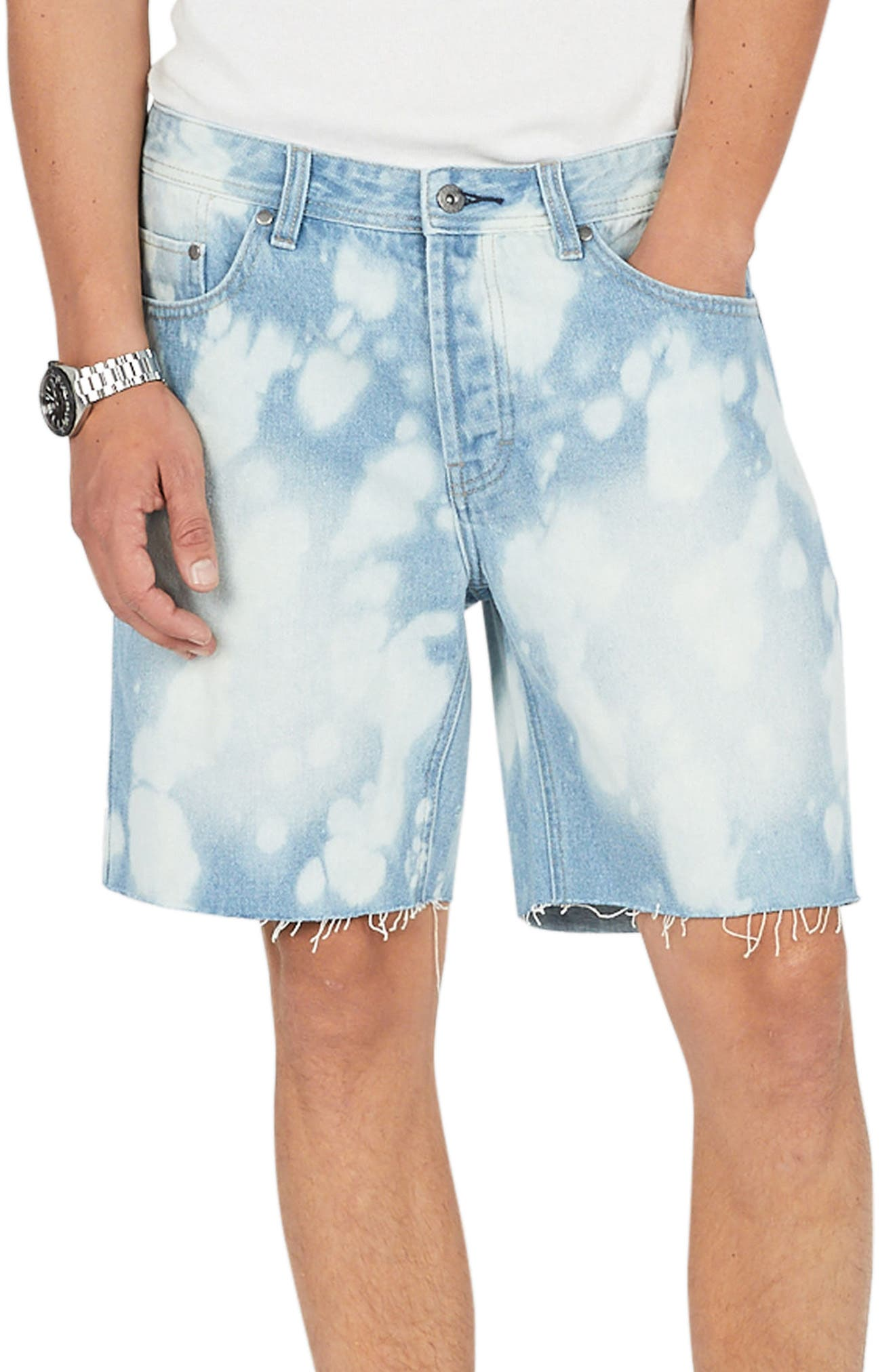 Barney Cools B. Relaxed Denim Shorts (Bleached Blue)
