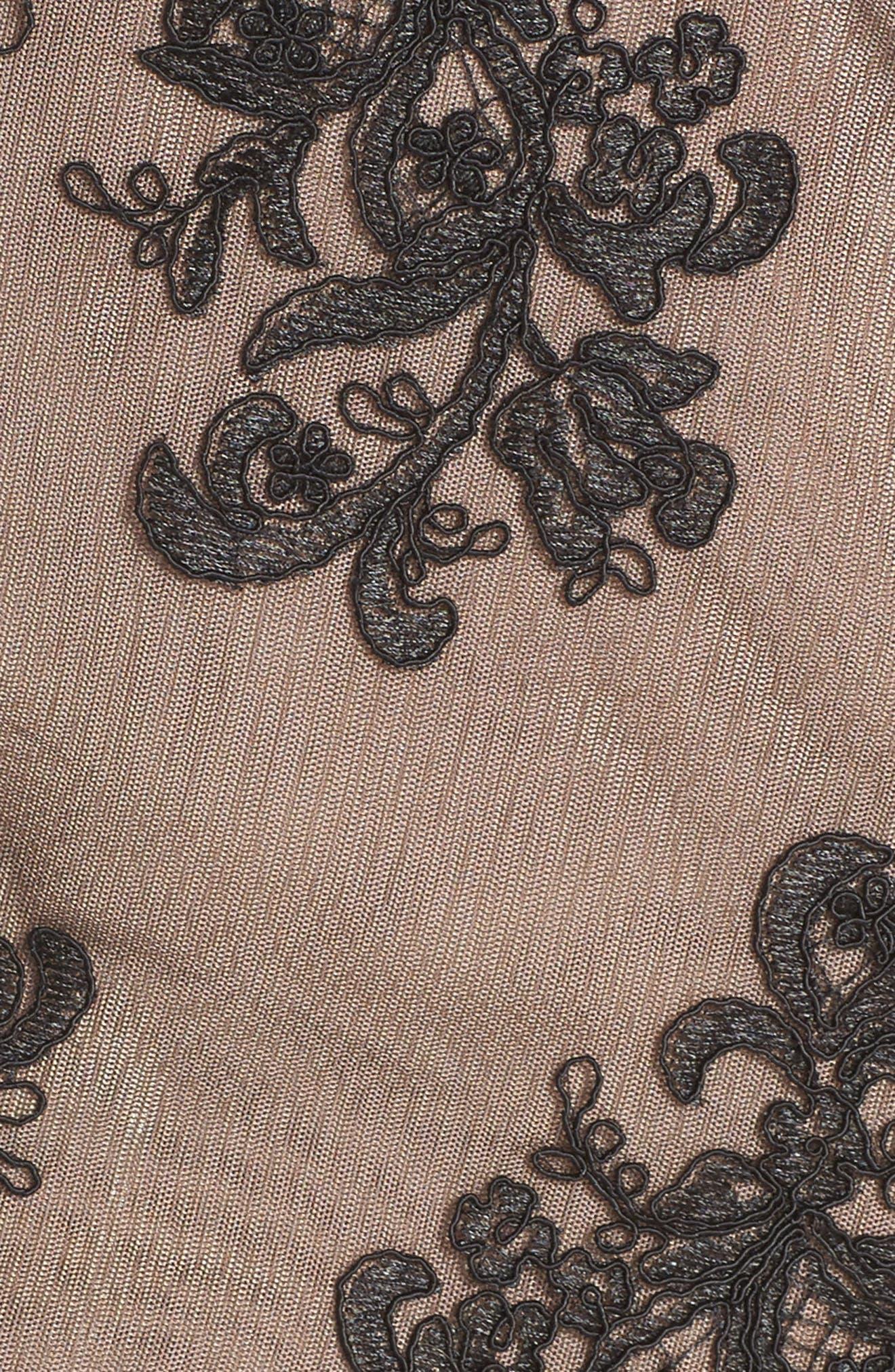 Camilla Lace Sheath Dress,                             Alternate thumbnail 5, color,                             Black