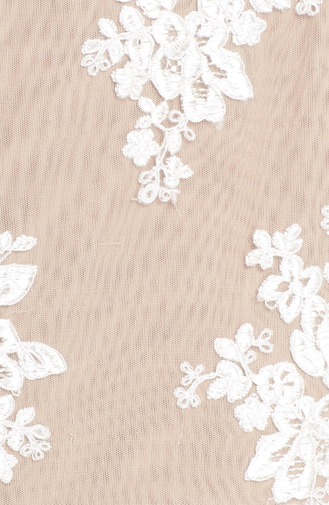 Camilla Lace Sheath Dress,                             Alternate thumbnail 5, color,                             White