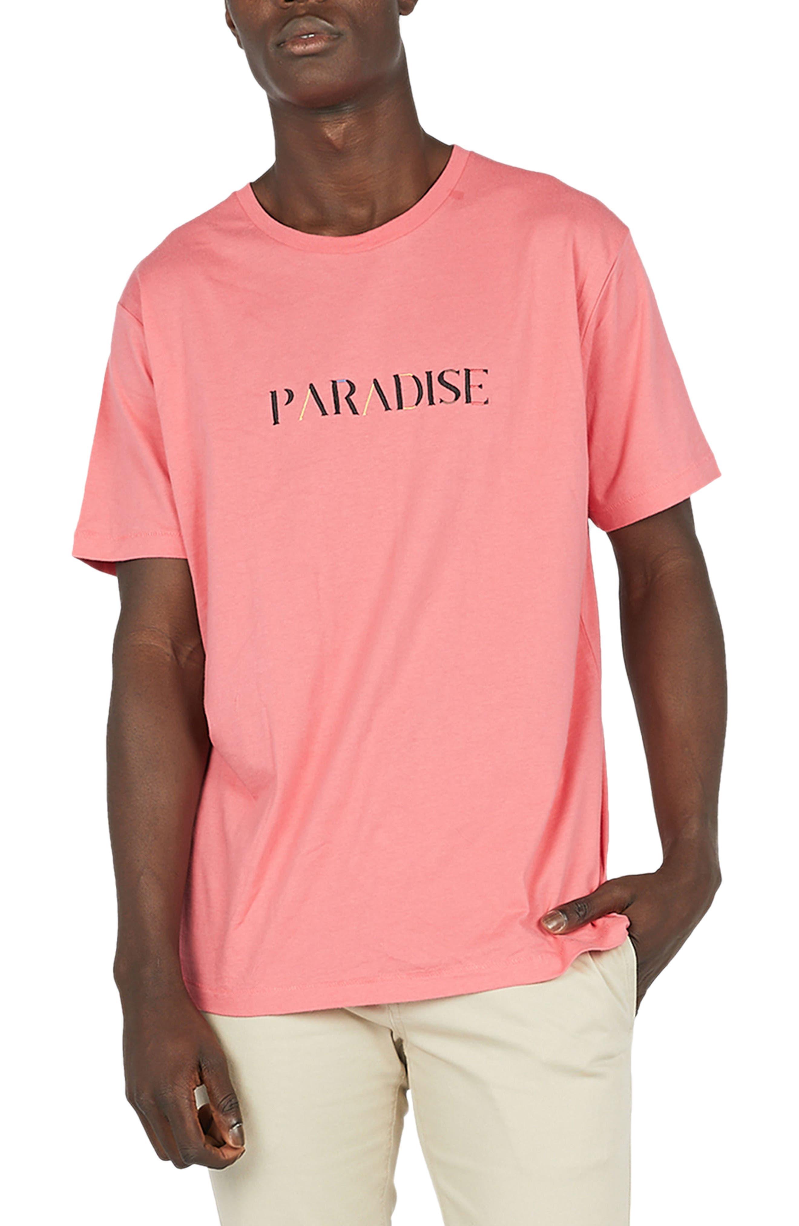 Paradise T-Shirt,                         Main,                         color, Coral Pink
