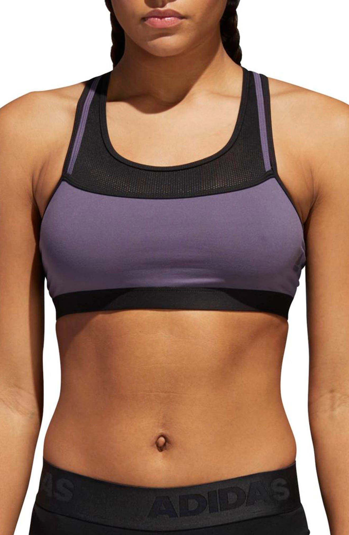 2-in-1 Impact Sports Bra,                             Main thumbnail 1, color,                             Trace Purple/ Black