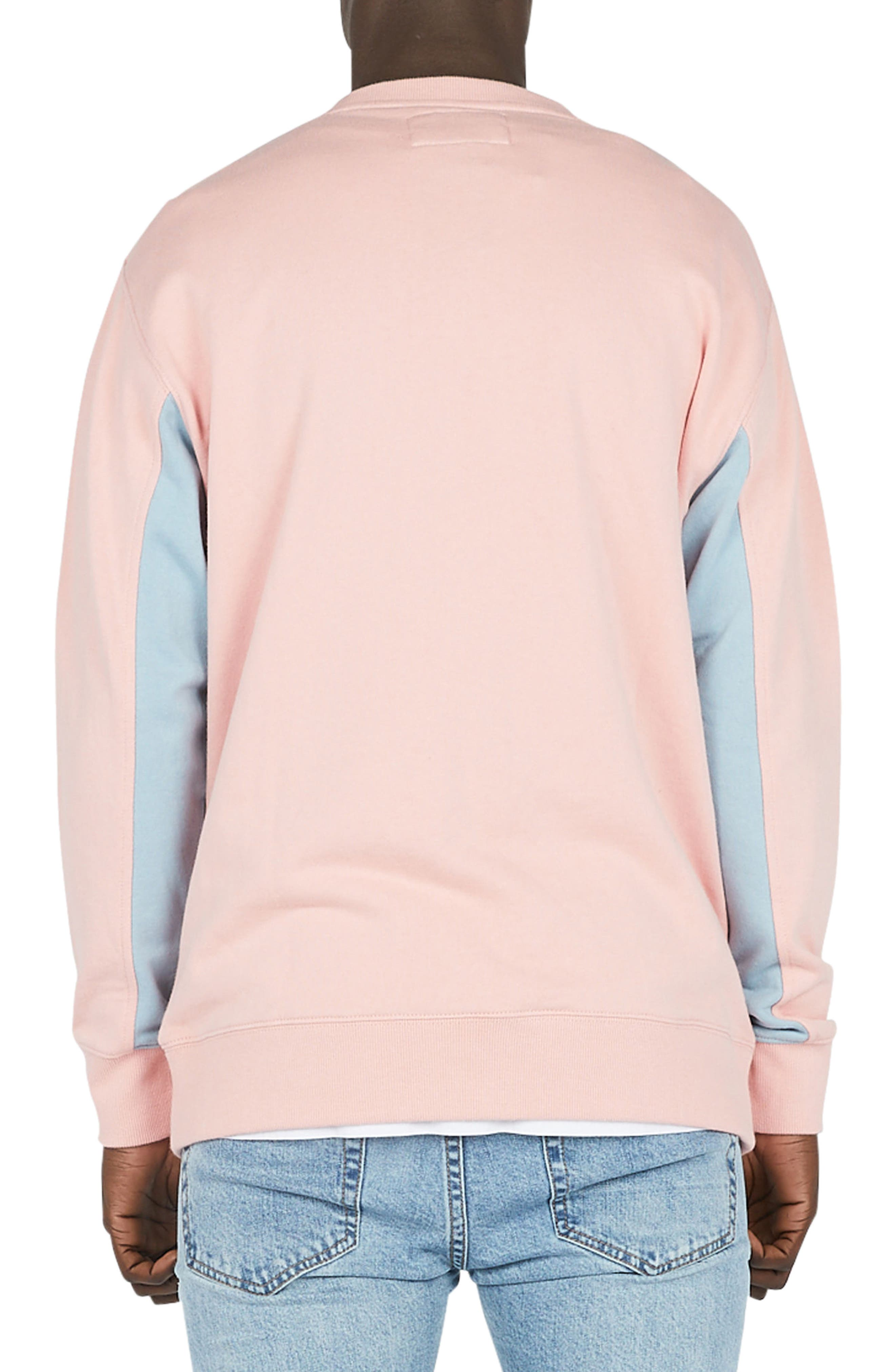 Sport Crew Sweater,                             Alternate thumbnail 2, color,                             Pink
