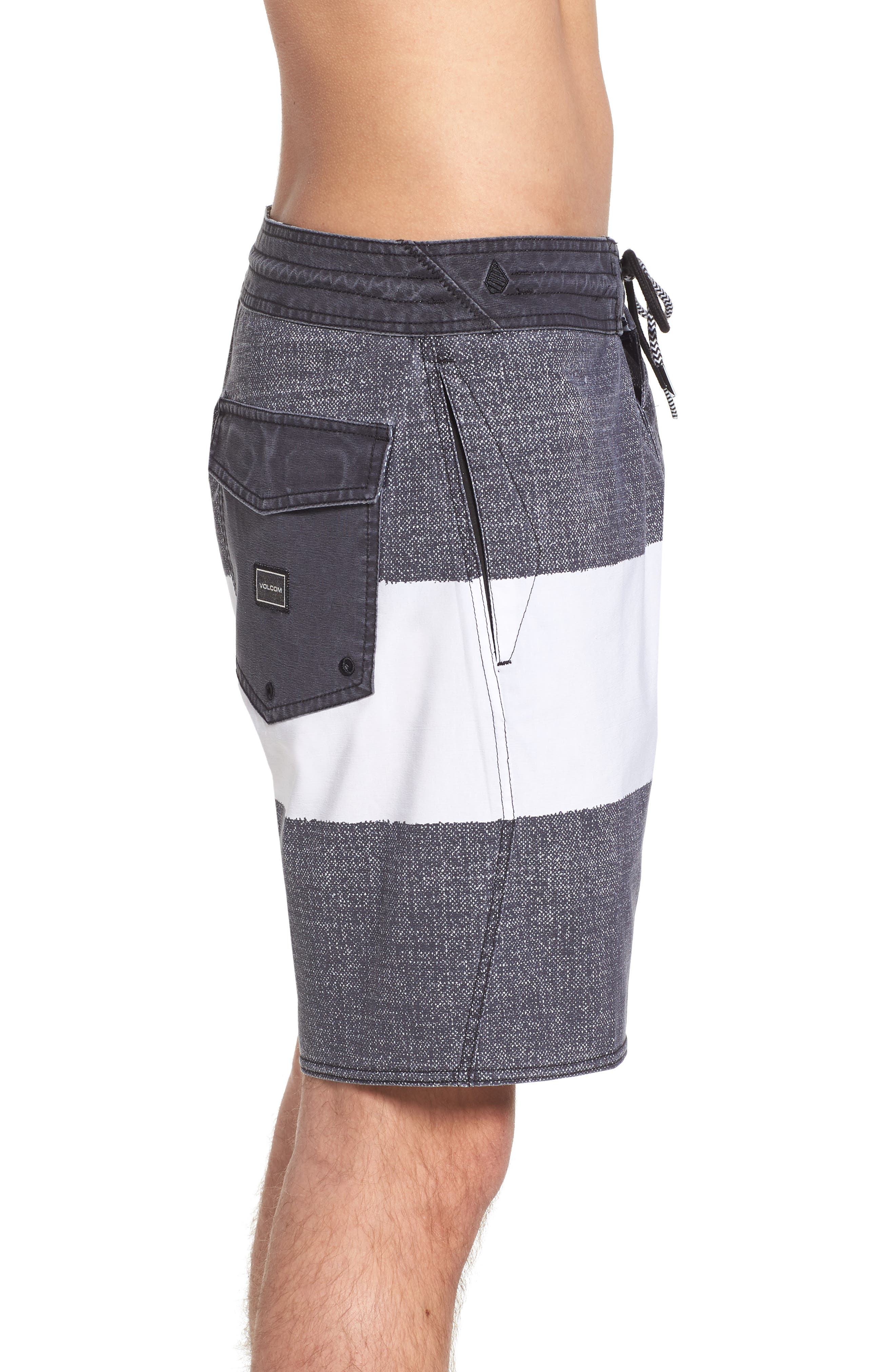 Balbroa Stoney Board Shorts,                             Alternate thumbnail 3, color,                             Stealth