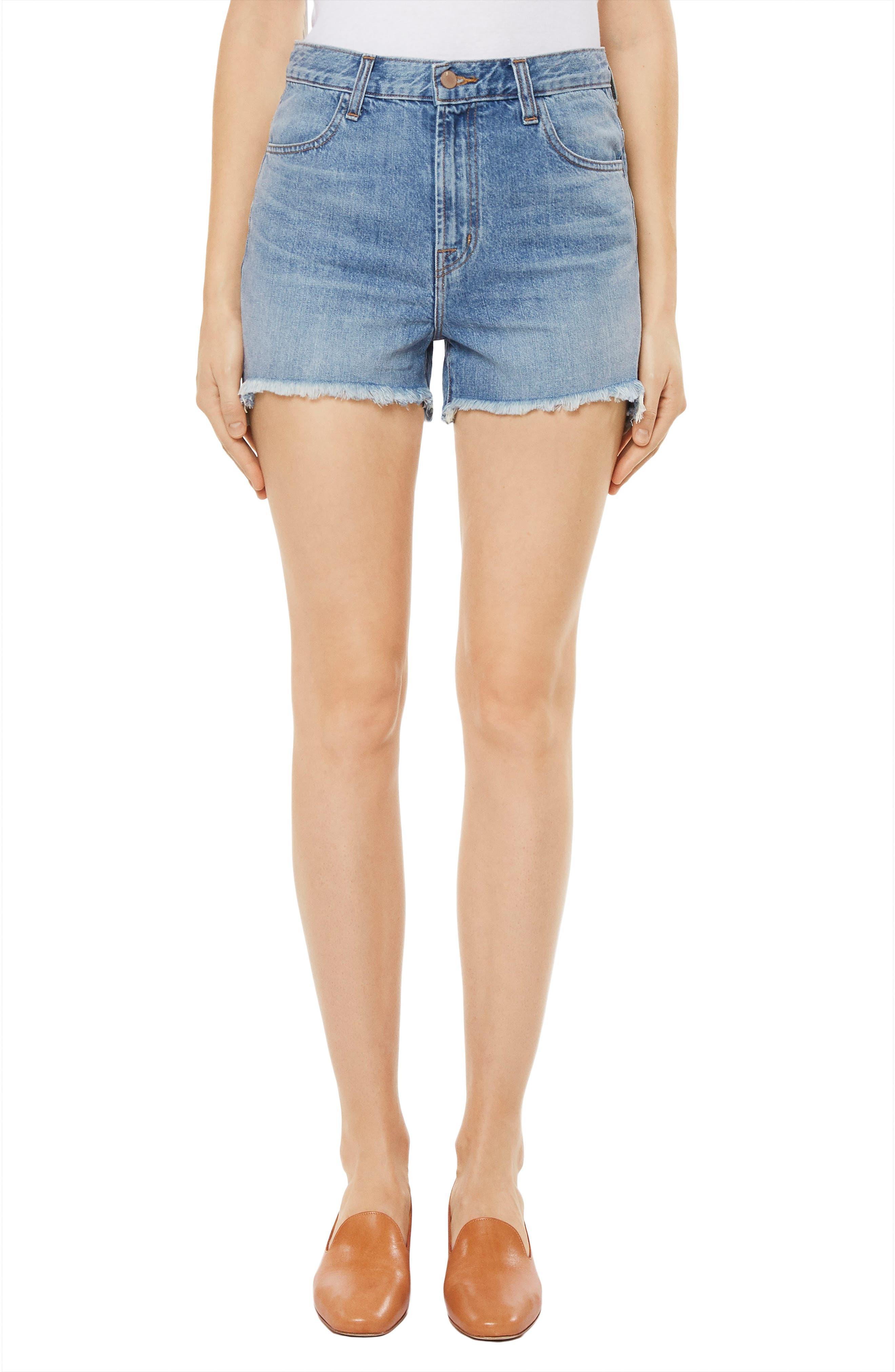 Joan High Waist Cutoff Shorts,                         Main,                         color, Hydra
