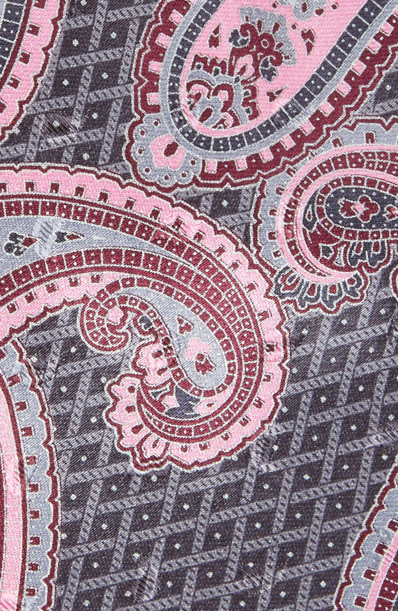 Paisley Silk Tie,                             Alternate thumbnail 2, color,                             Grey