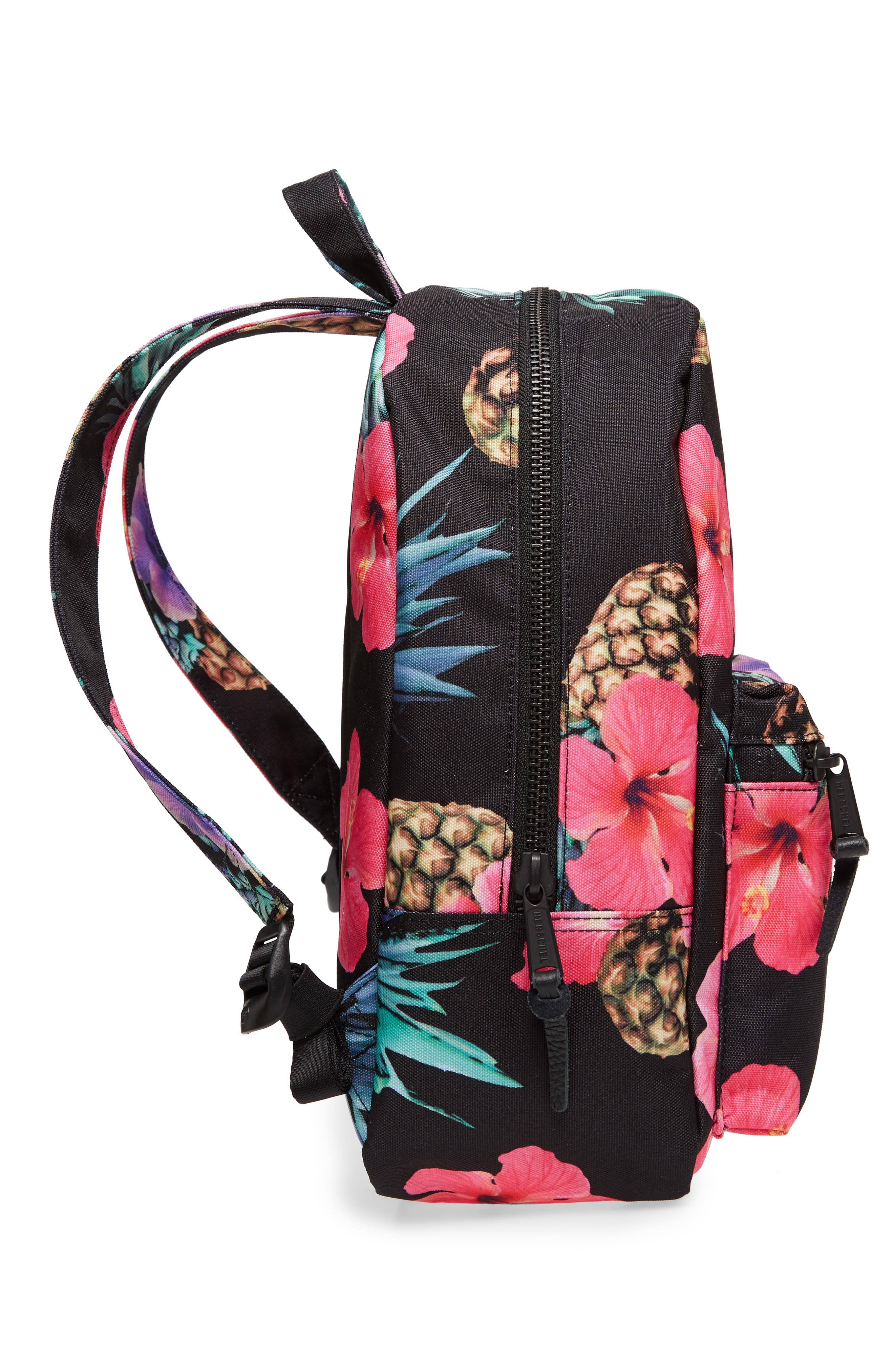 X-Small Grove Canvas Backpack,                             Alternate thumbnail 5, color,                             Black Pineapple
