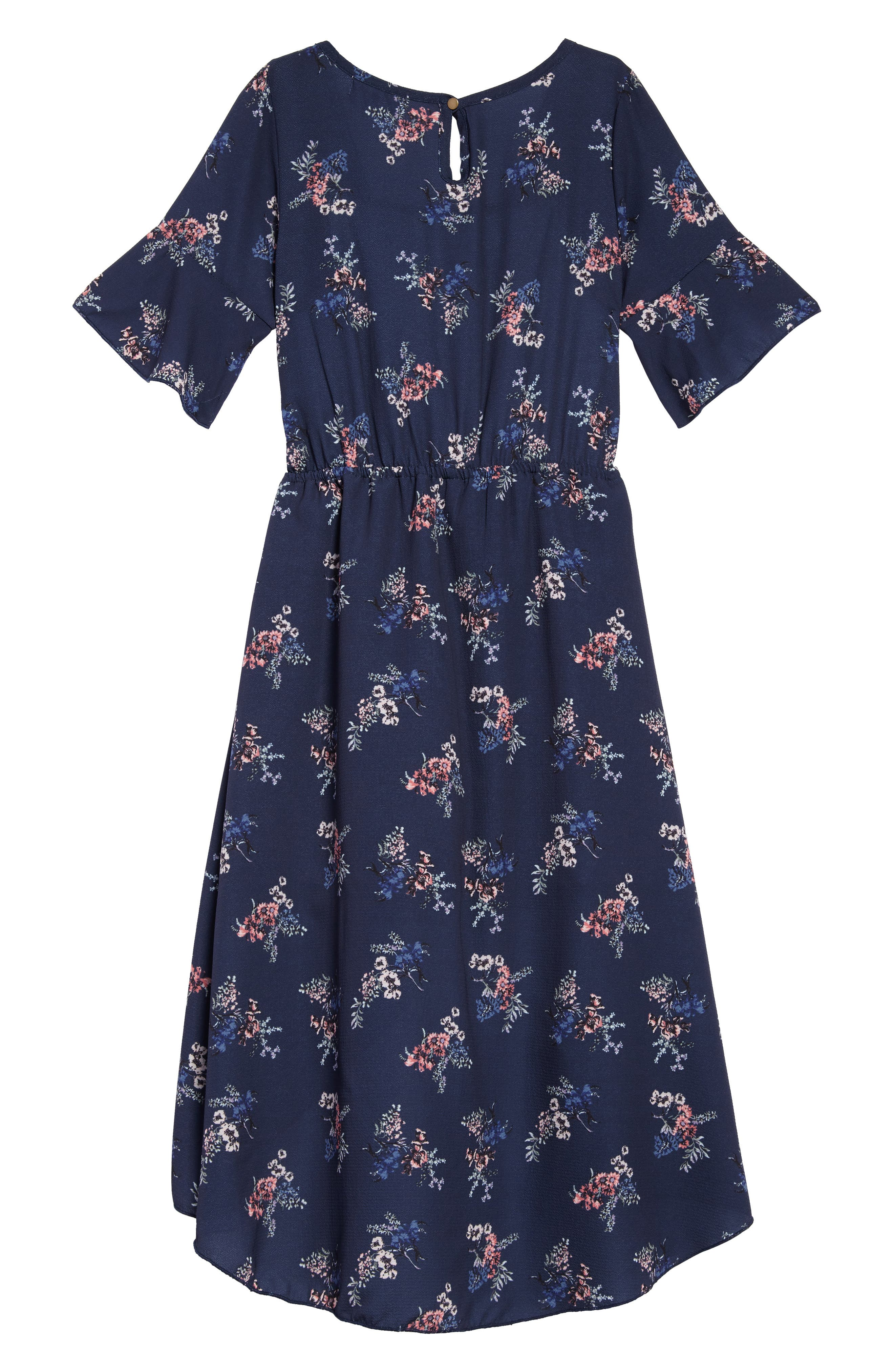Floral Walk Through Romper,                             Alternate thumbnail 2, color,                             Navy Floral
