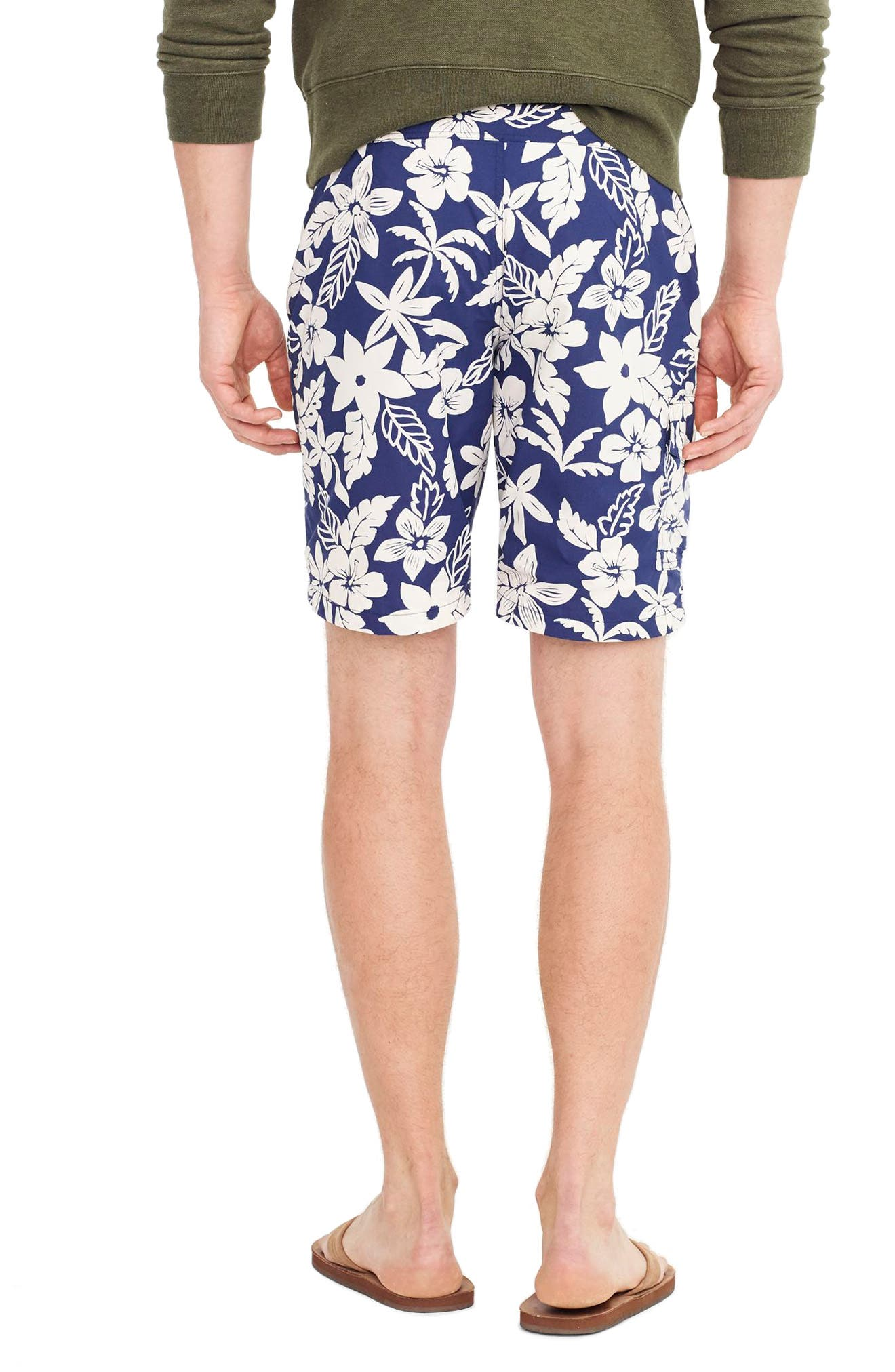 Alternate Image 2  - J.Crew Floral Swim Trunks