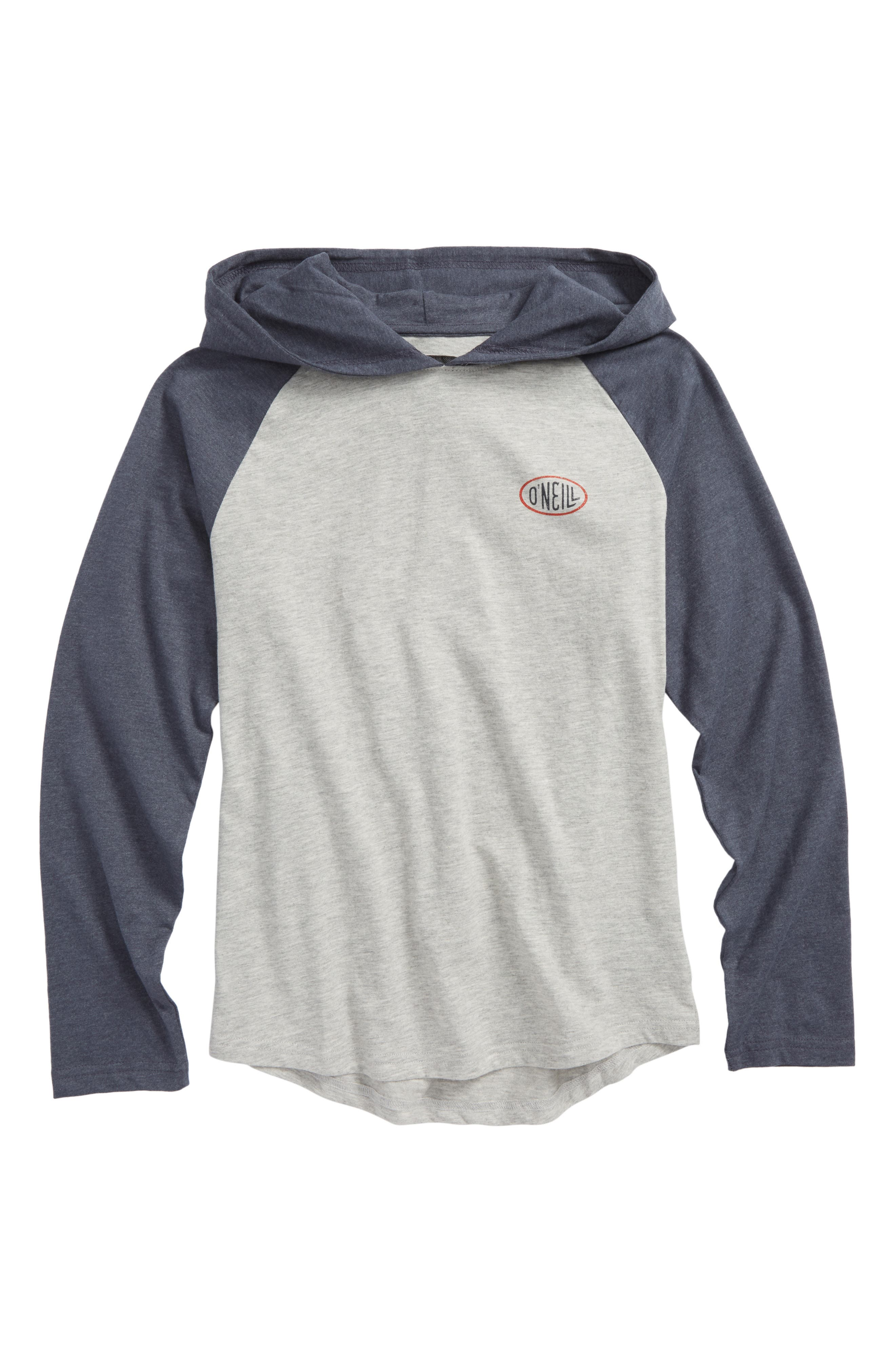 Malcom Logo Graphic Pullover Hoodie,                             Main thumbnail 1, color,                             Slate