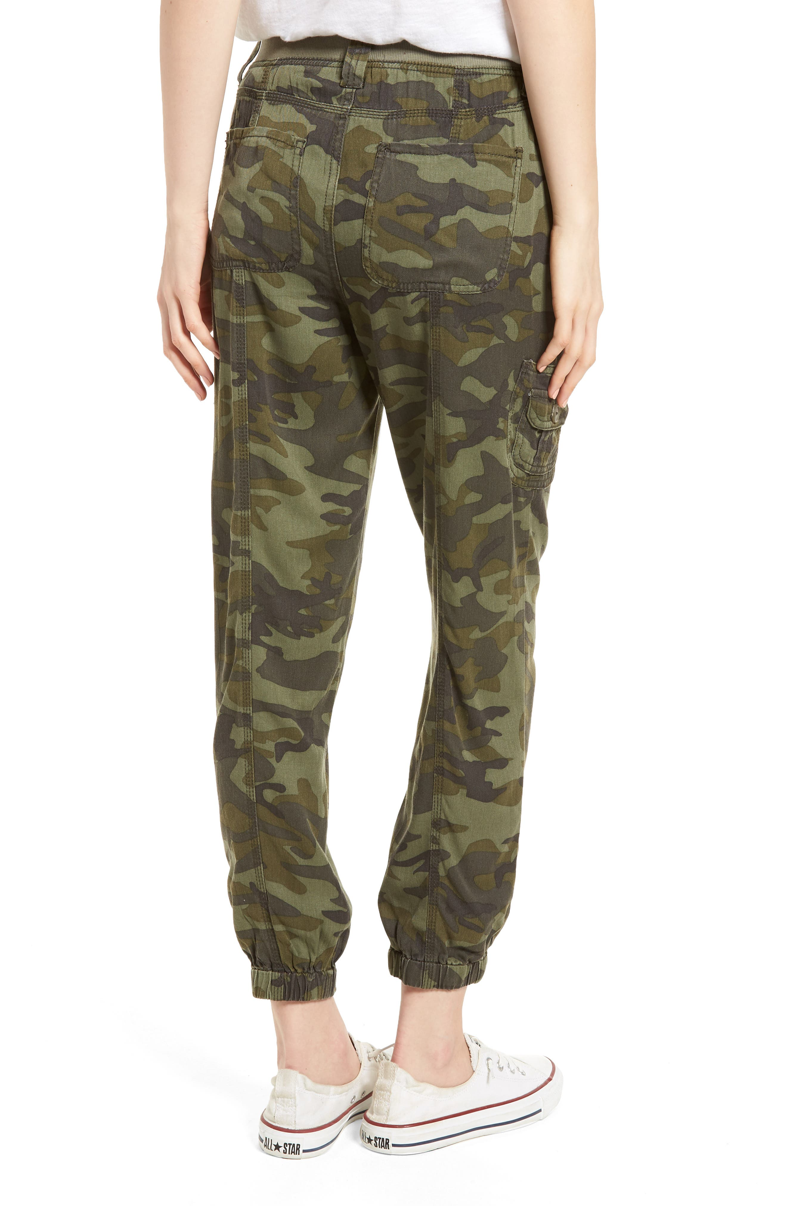 Alternate Image 2  - Love, Fire Camo Print Cargo Pants