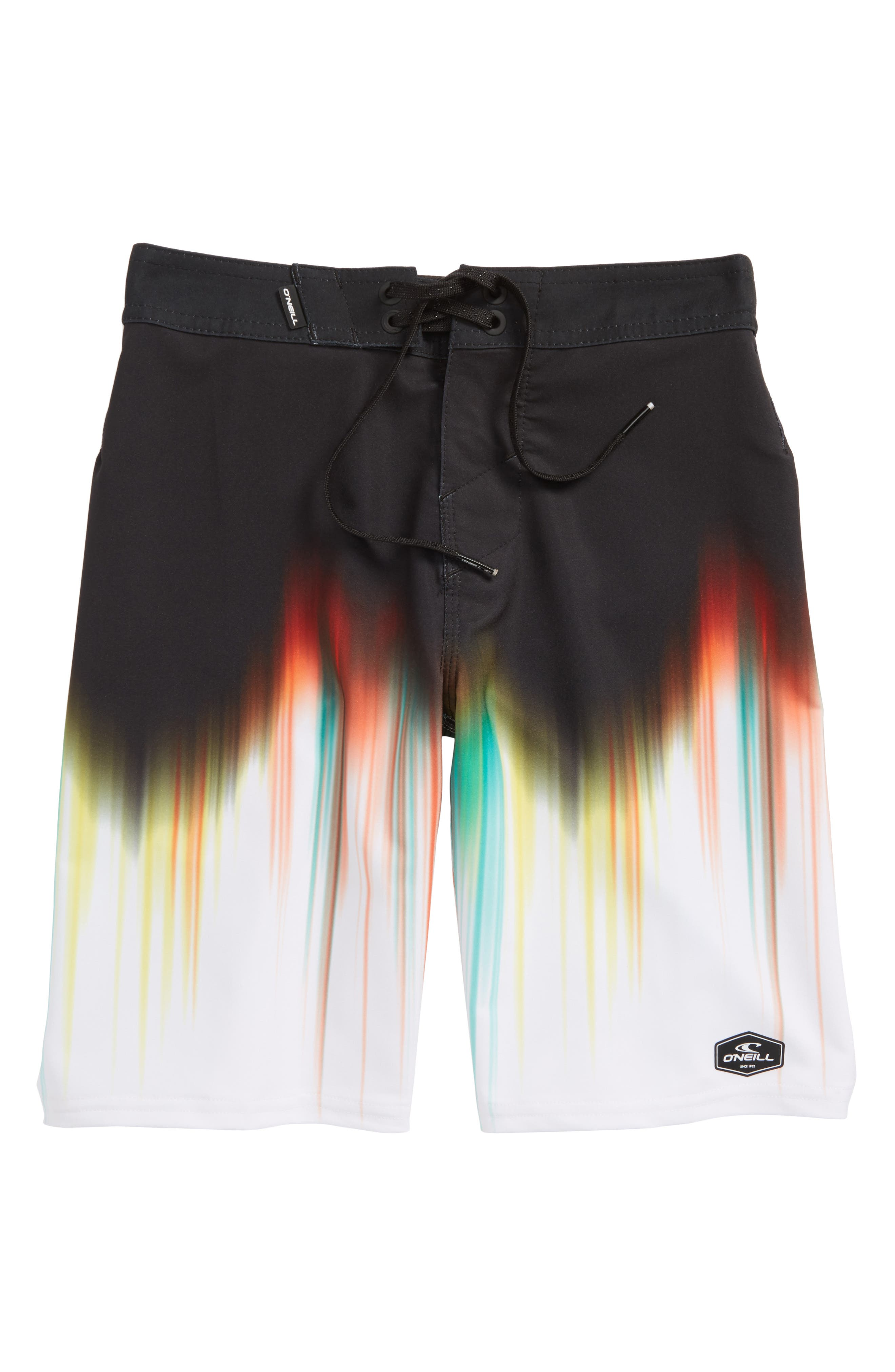 Hyperfreak Drippin Board Shorts,                             Main thumbnail 1, color,                             Black