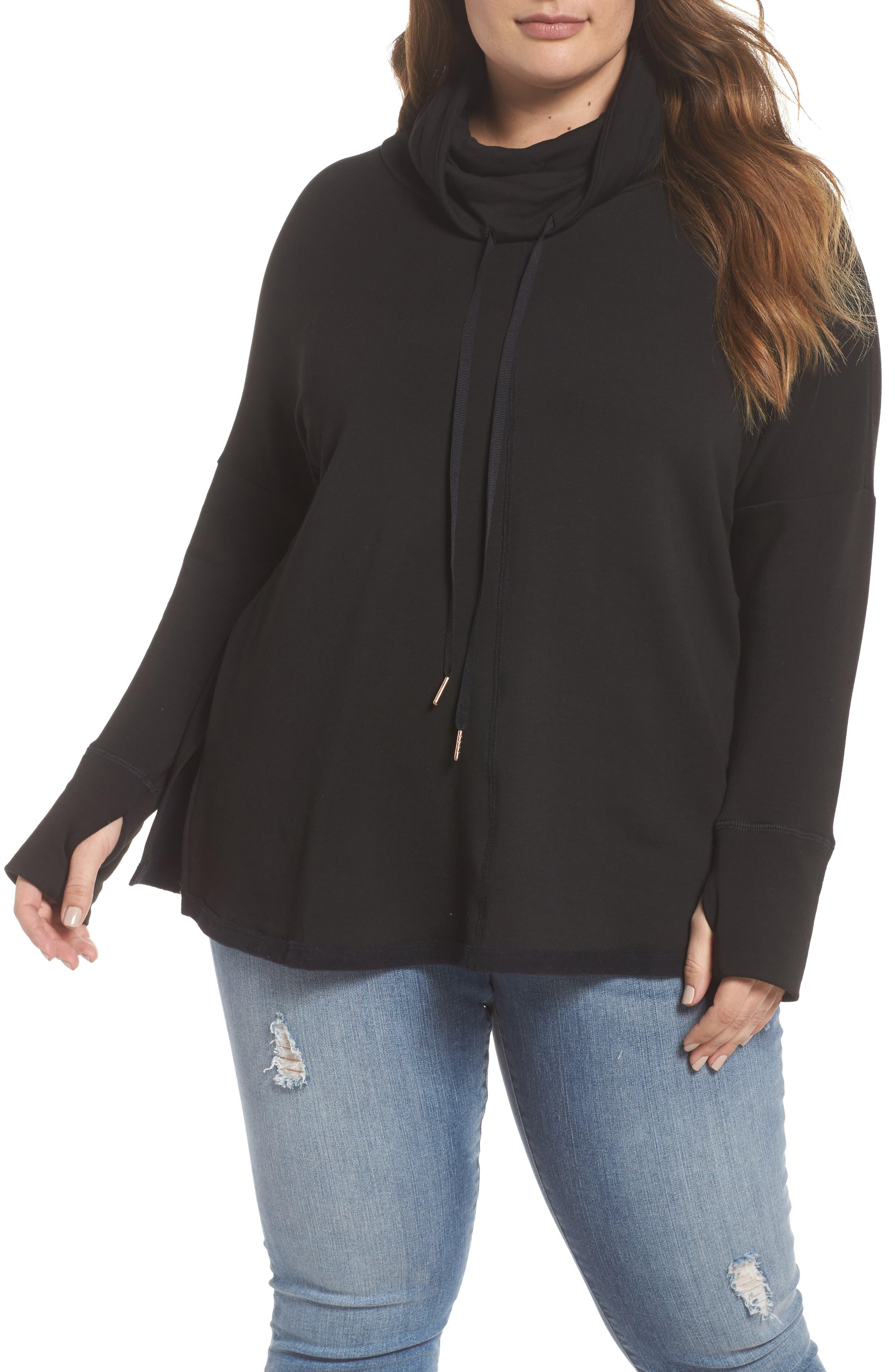 Caslon® Off Duty Funnel Neck Sweatshirt