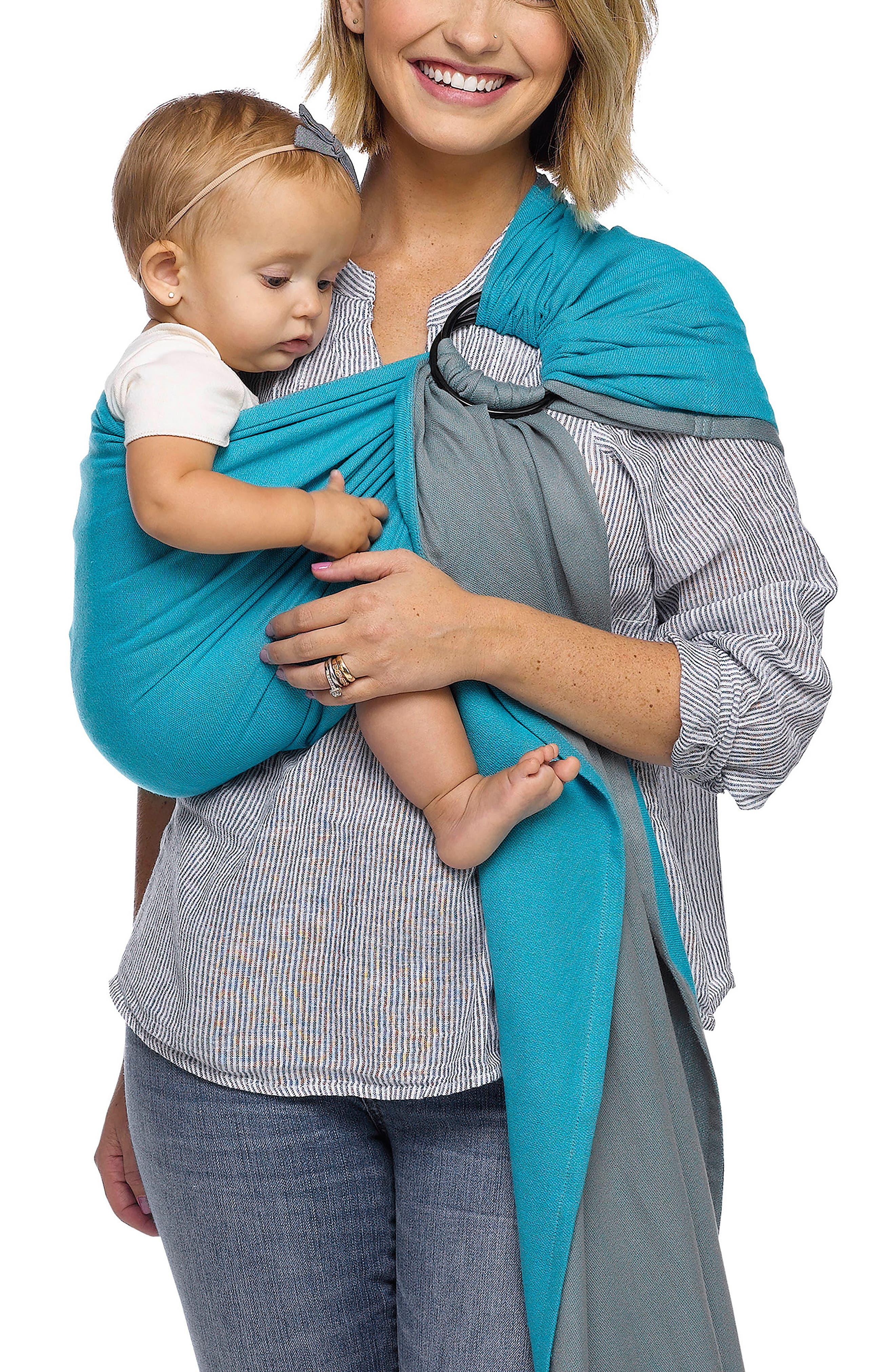 Wrap Baby Sling Carrier,                             Main thumbnail 1, color,                             Ocean Twist