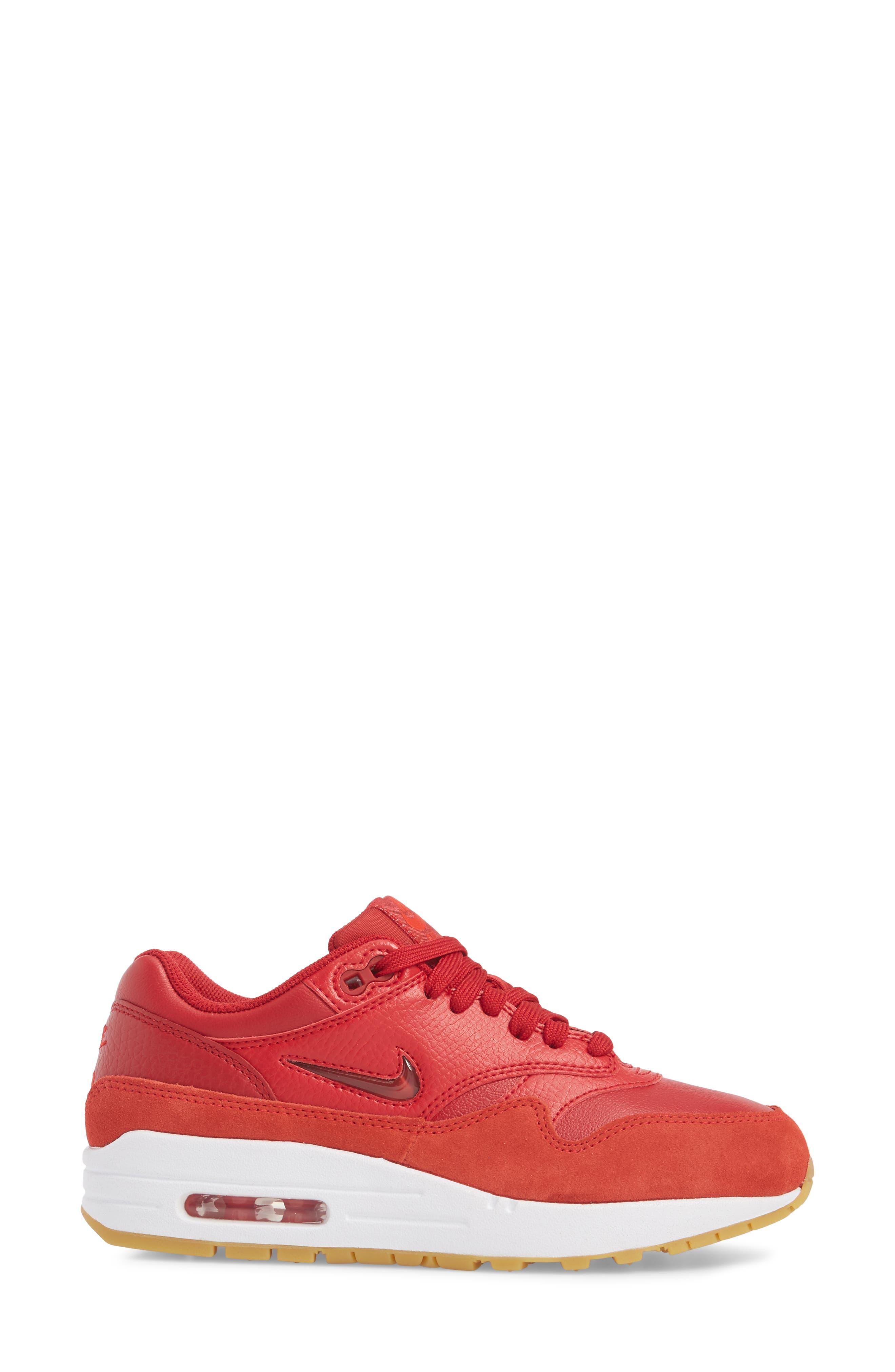 Air Max 1 Premium SC Sneaker,                             Alternate thumbnail 5, color,                             Gym Red/ Gym Red