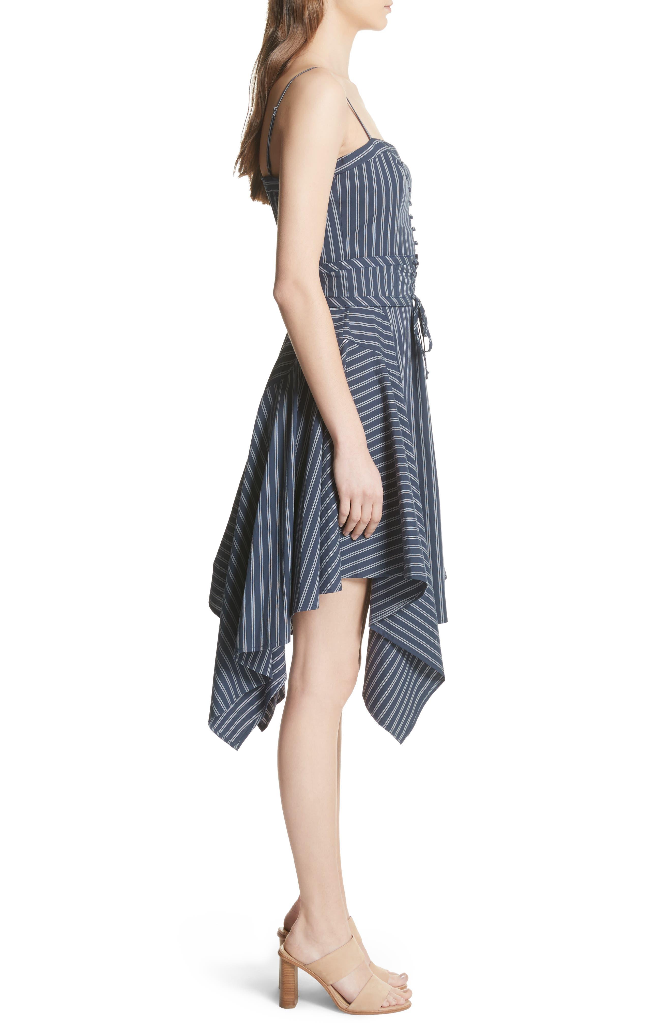 Ronit Fit & Flare Dress,                             Alternate thumbnail 3, color,                             Dark Navy