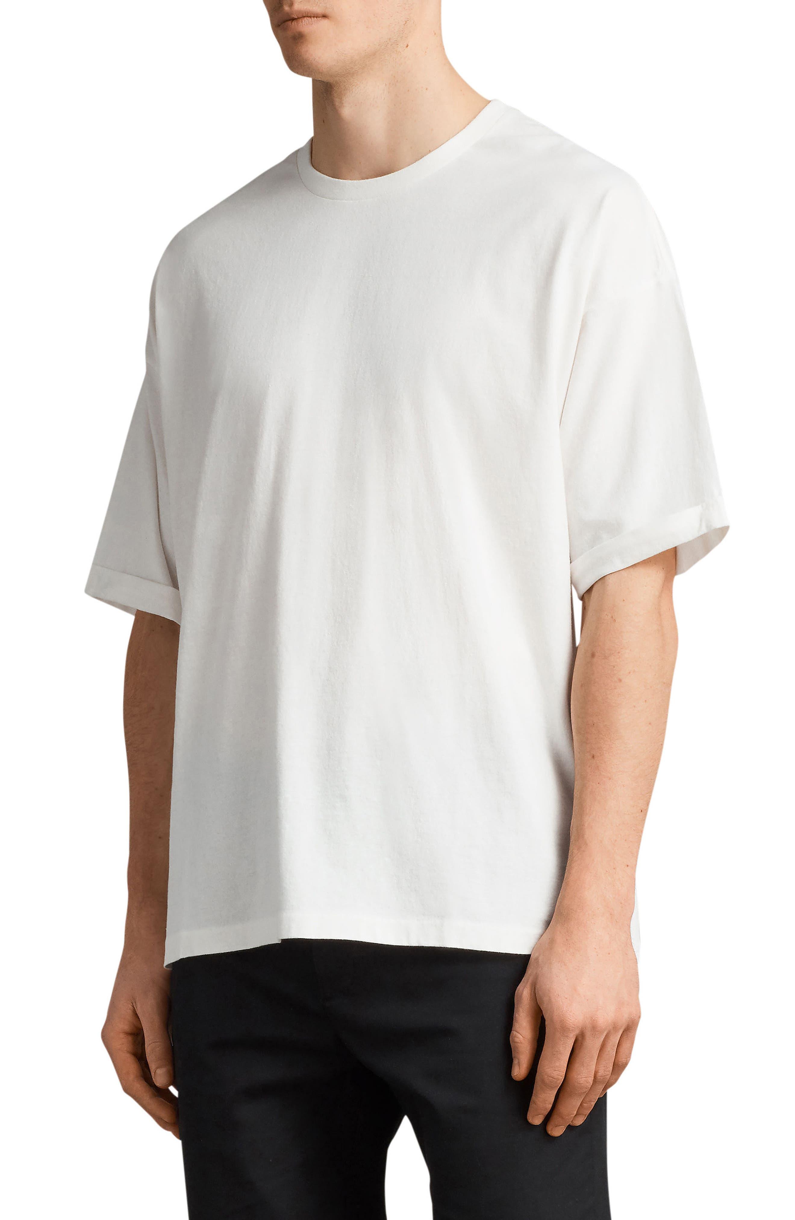 Kleeve Oversized Crewneck T-Shirt,                             Alternate thumbnail 3, color,                             Chalk Marl