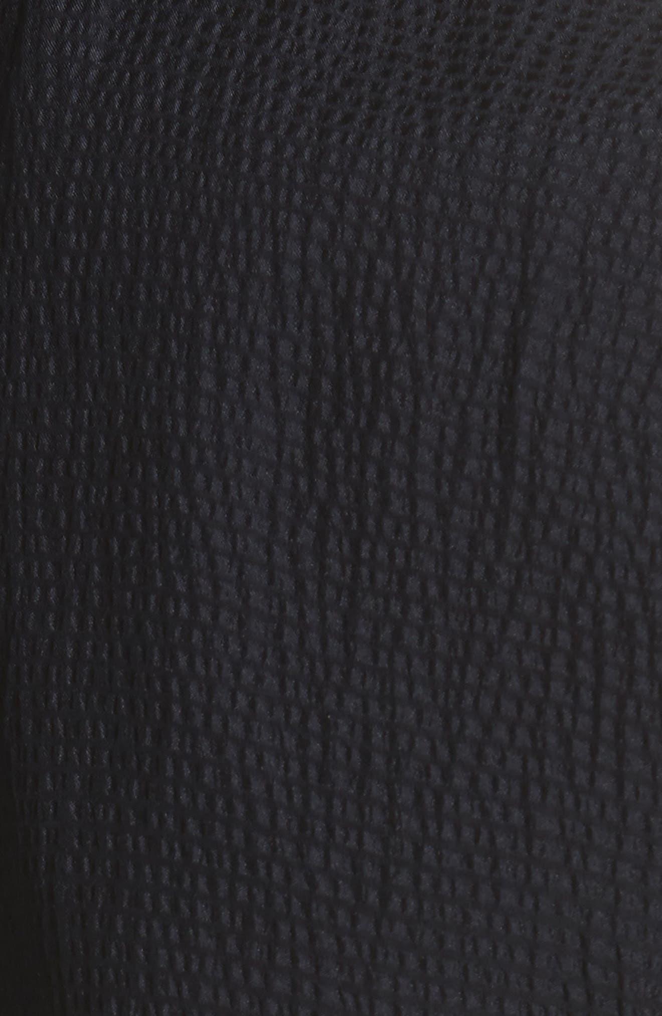 Hammered Silk Ruffle Blouse,                             Alternate thumbnail 6, color,                             Dark Navy