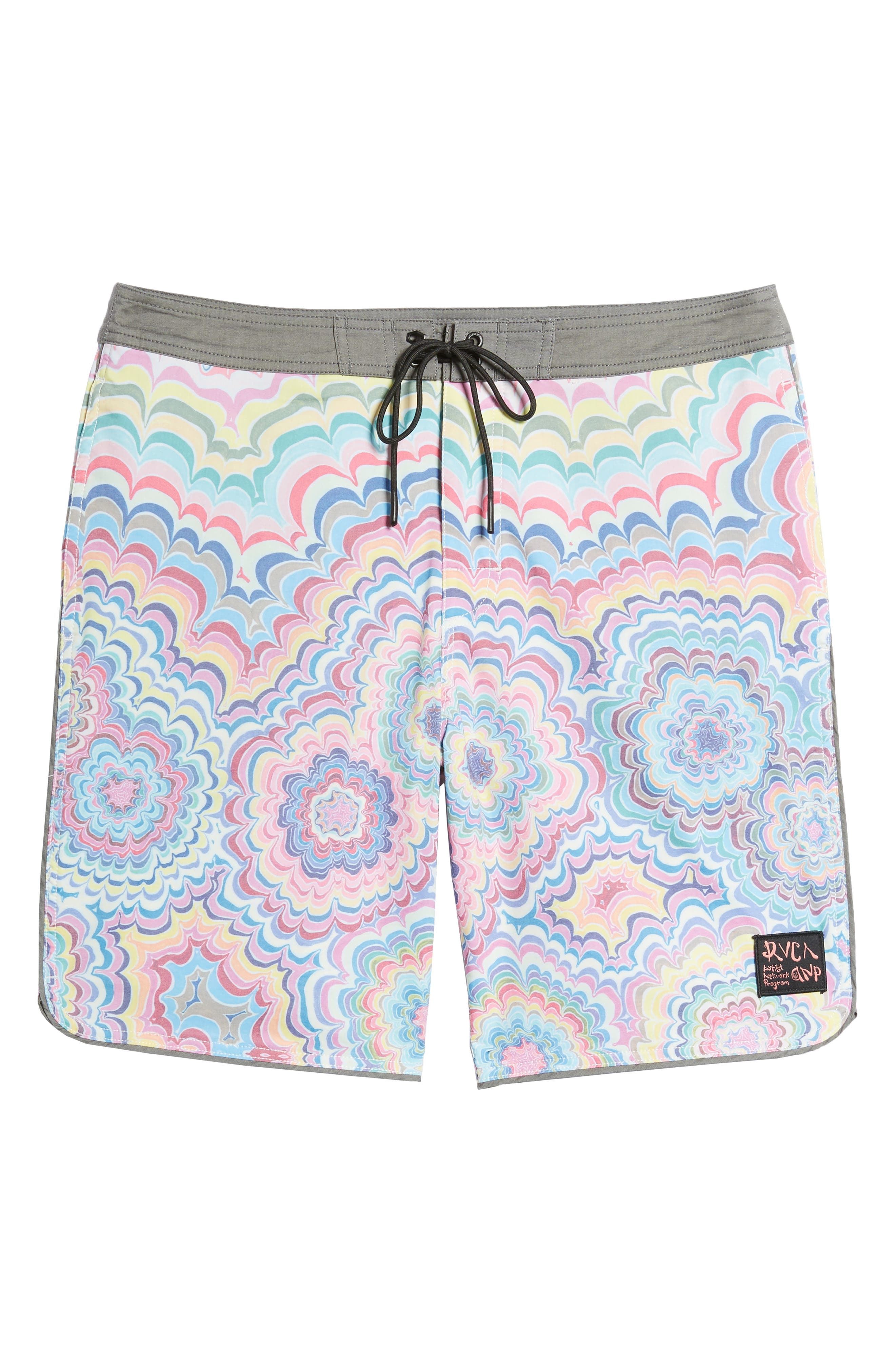 Kelsey Psych Swim Trunks,                             Alternate thumbnail 6, color,                             Coral