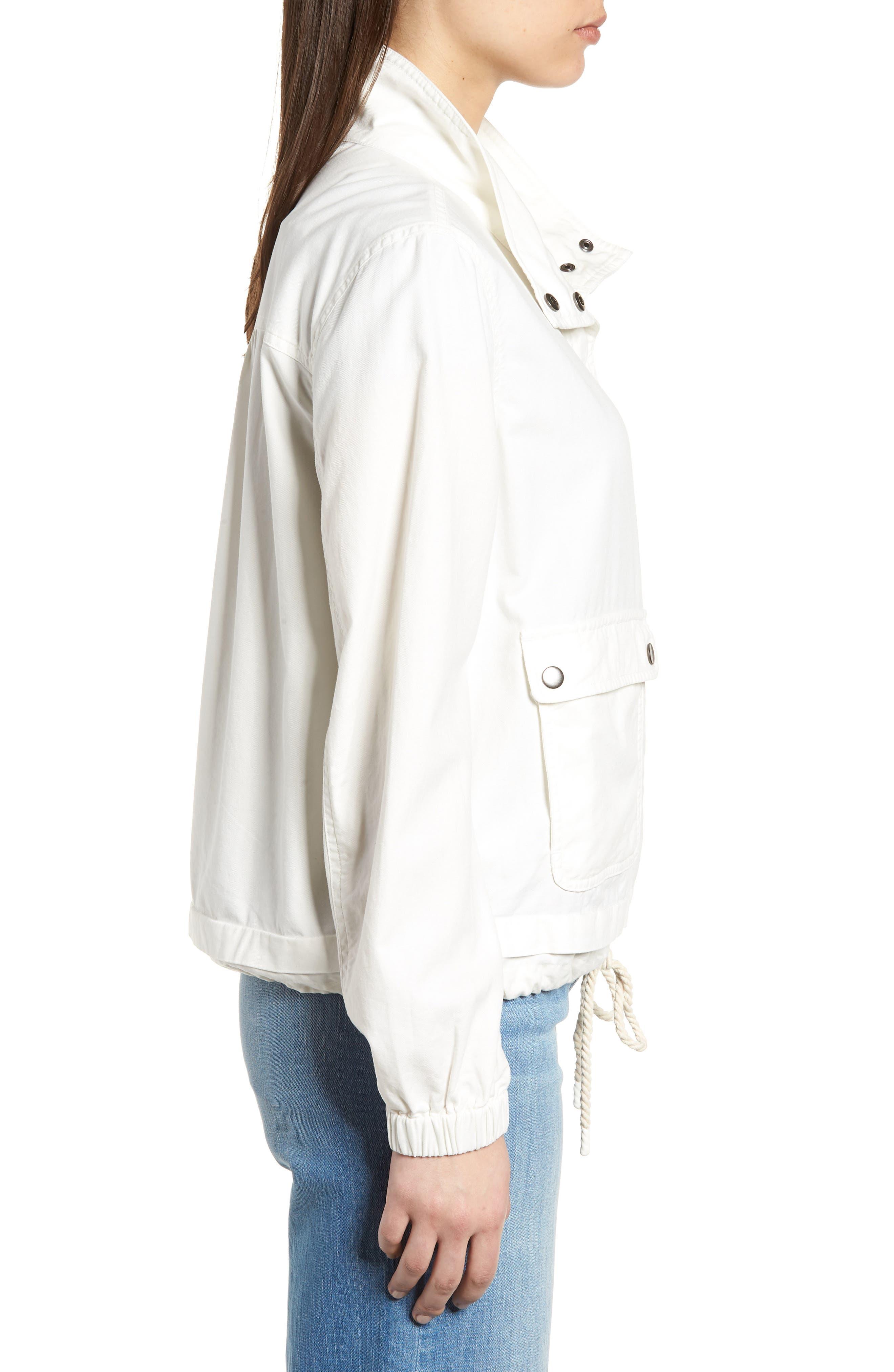 Snap Pocket Utility Jacket,                             Alternate thumbnail 3, color,                             White Snow
