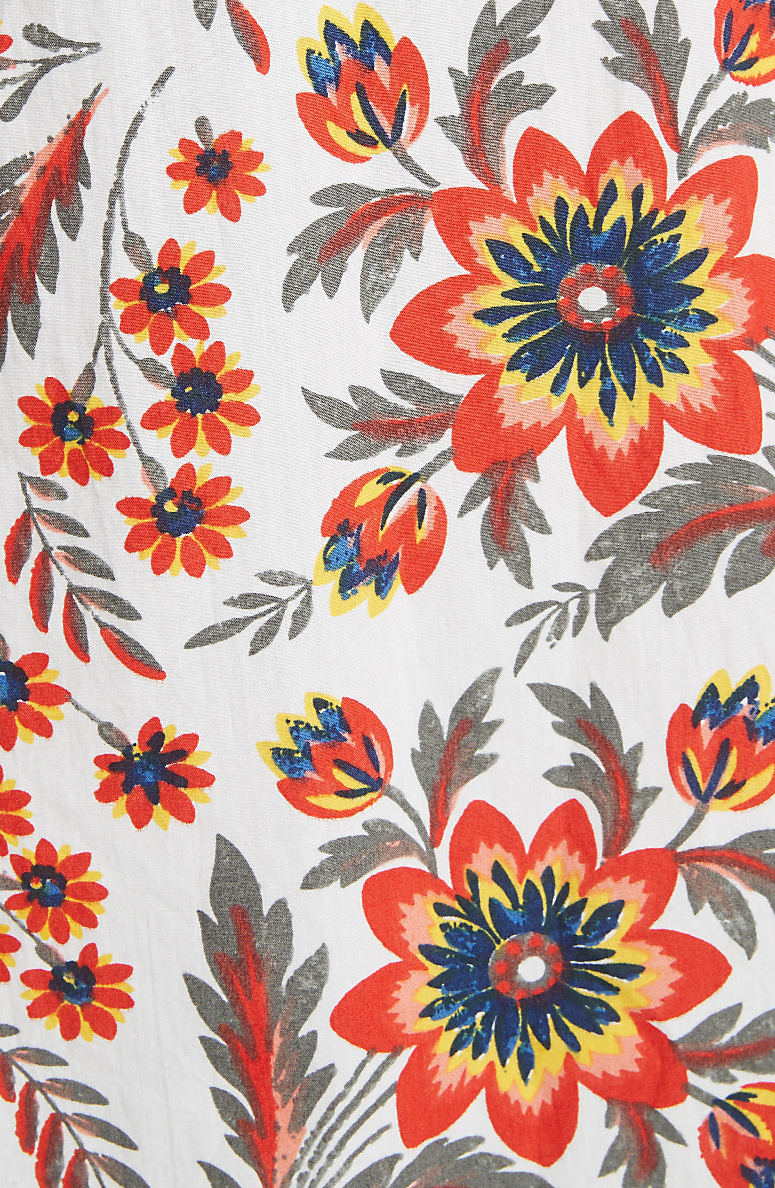 Chisuzu Smocked Sundress,                             Alternate thumbnail 5, color,                             Porcelain