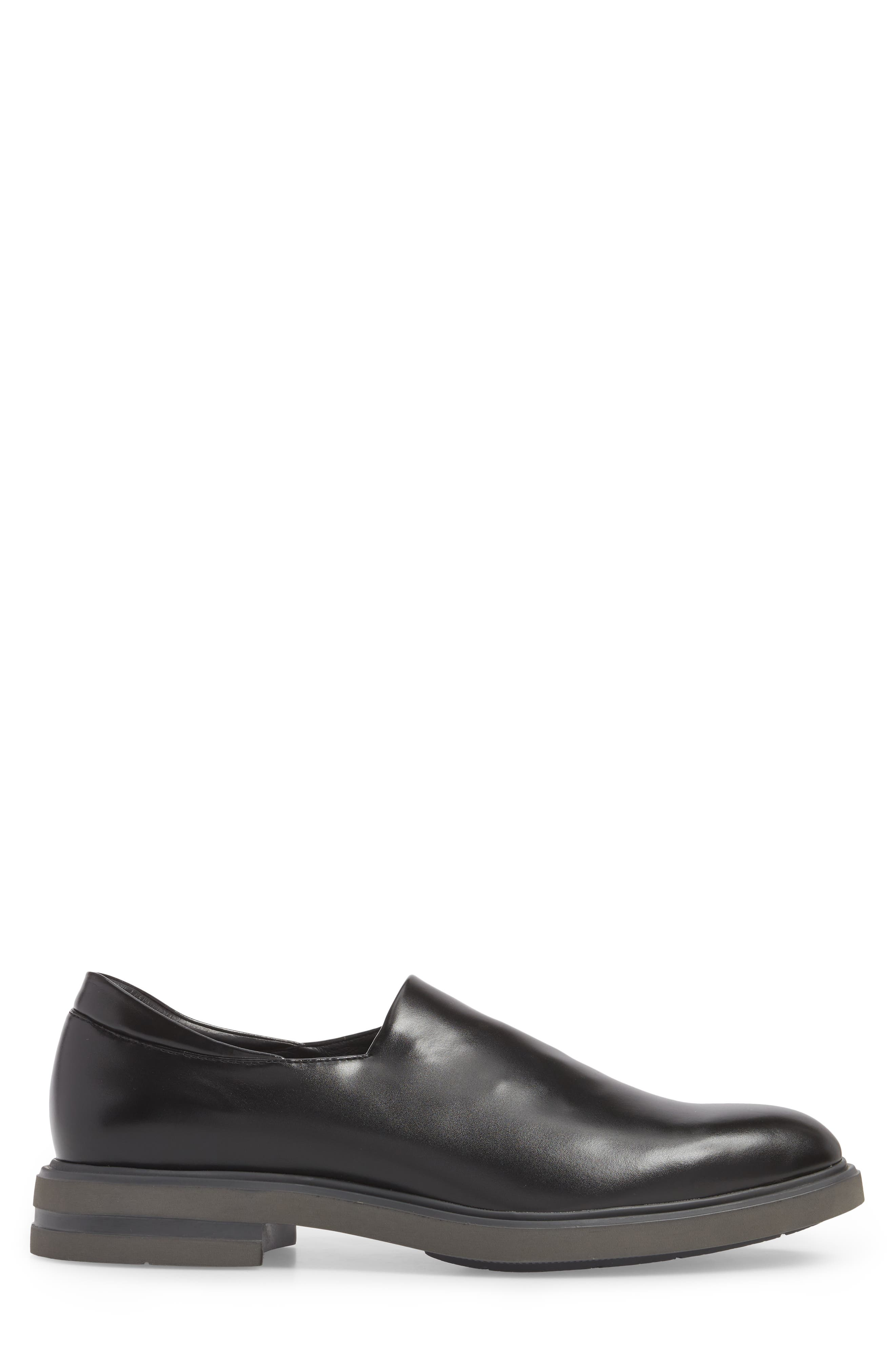 Eliam Venetian Loafer,                             Alternate thumbnail 3, color,                             Black Leather