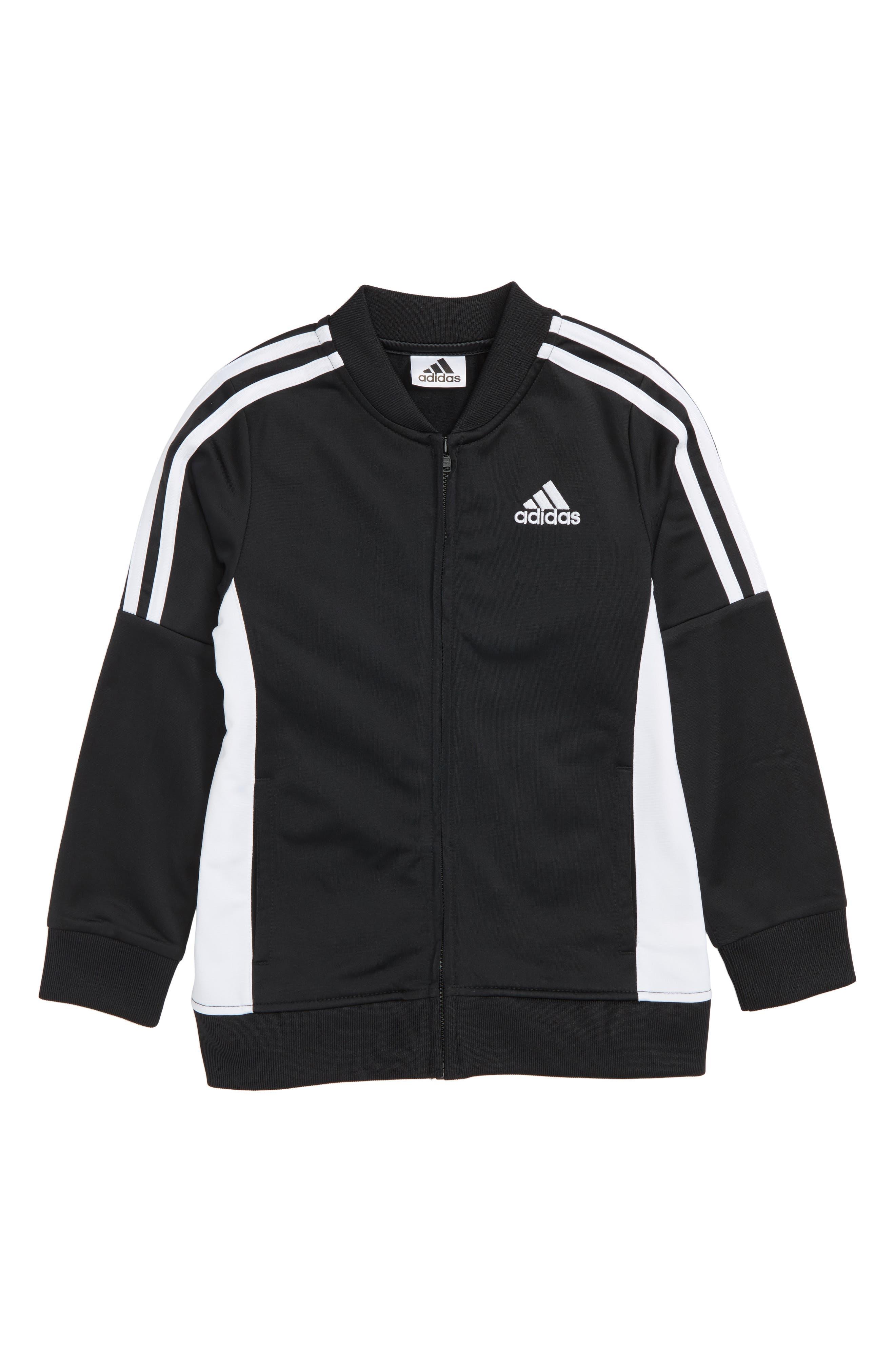 Tricot Track Jacket,                             Main thumbnail 1, color,                             Black