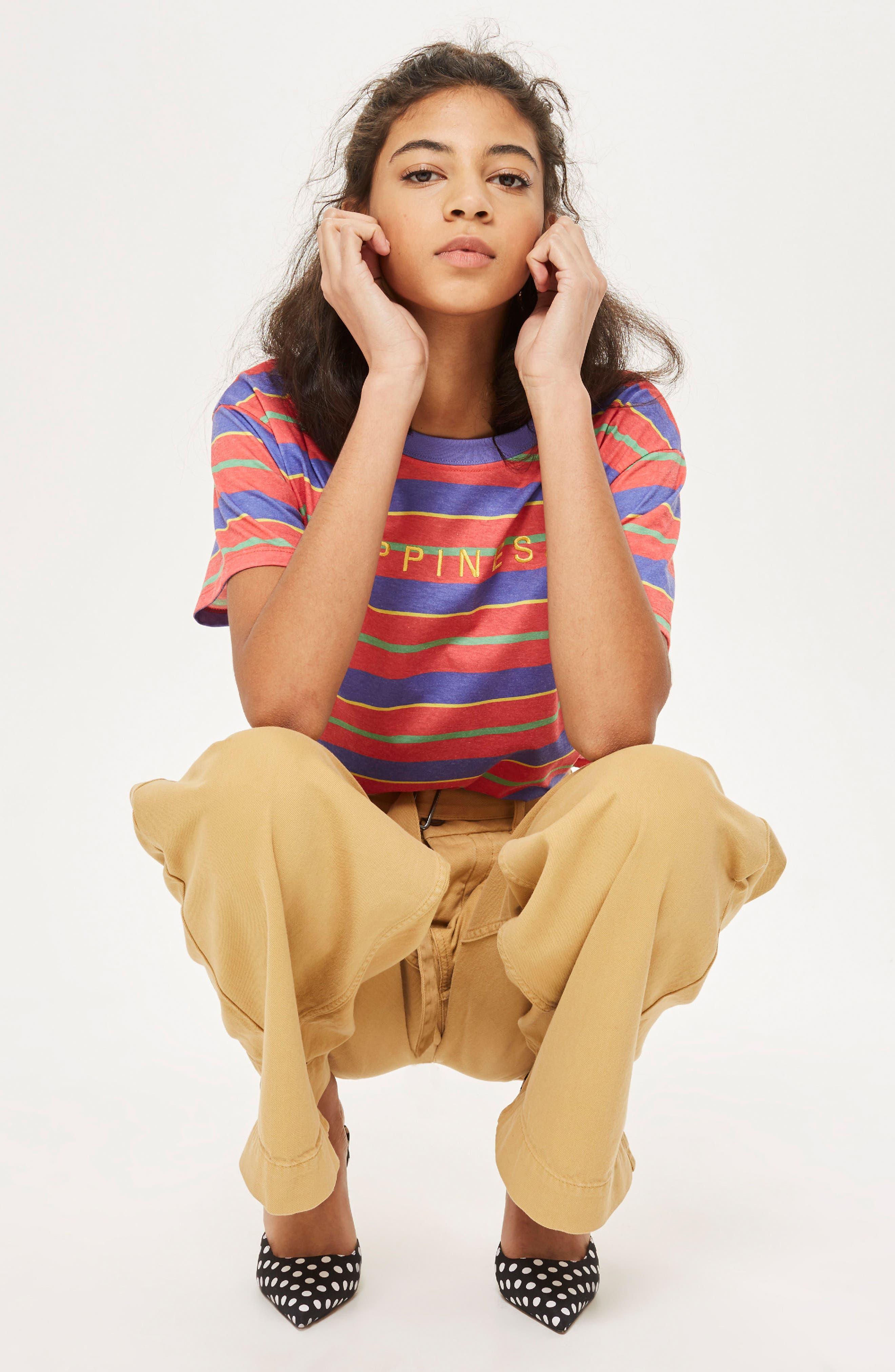 by Tee & Cake Happiness Stripe T-Shirt,                             Alternate thumbnail 2, color,                             Orange Multi