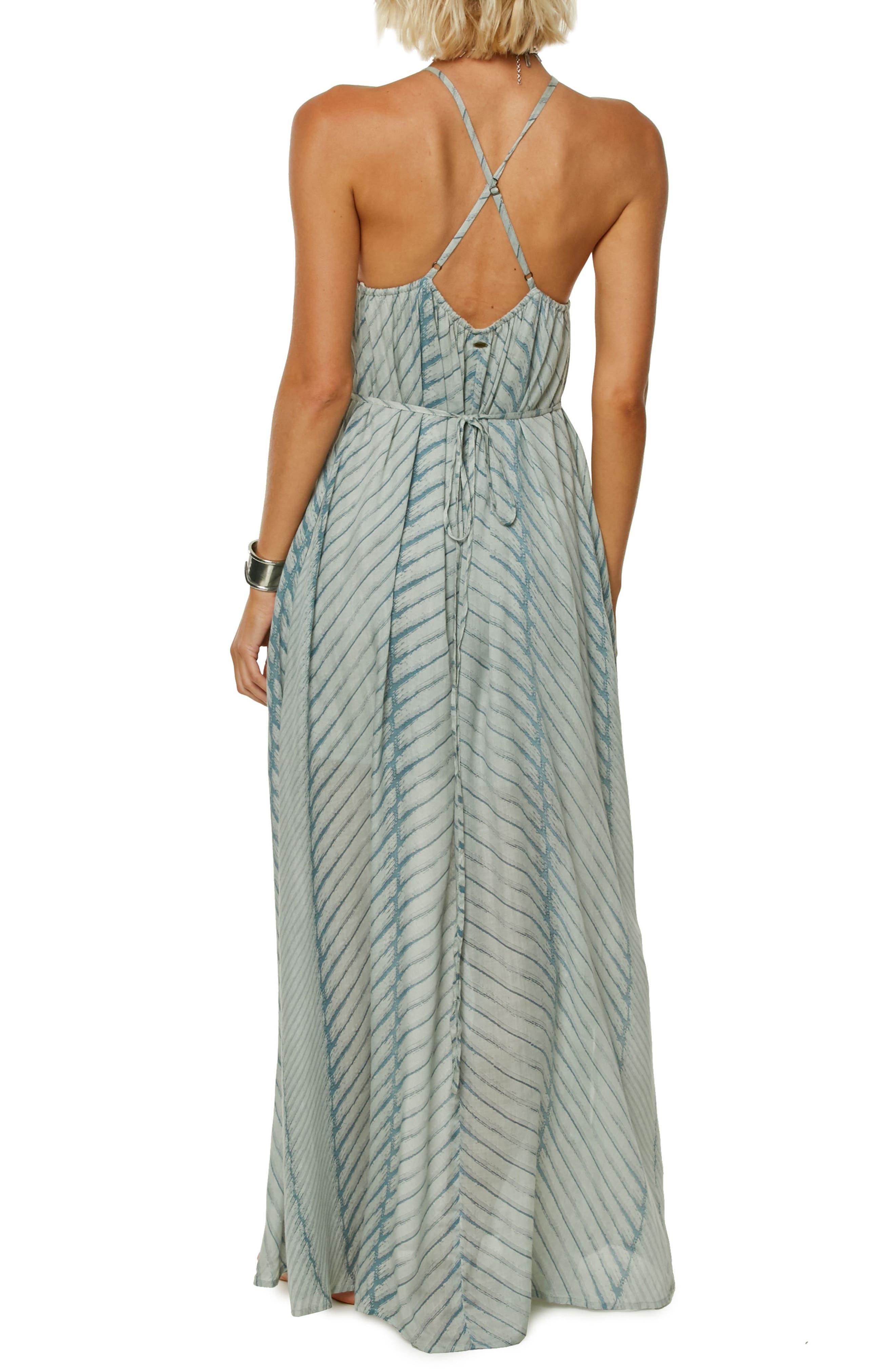 Lenore Stripe Maxi Dress,                             Alternate thumbnail 2, color,                             Capri Breeze