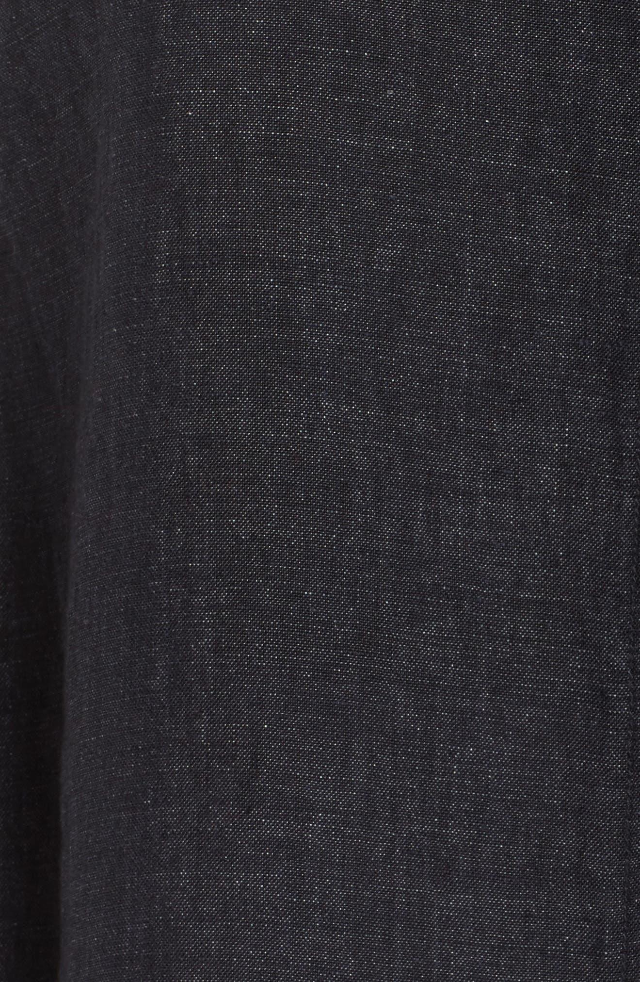 Organic Linen Flutter Top,                             Alternate thumbnail 6, color,                             Denim