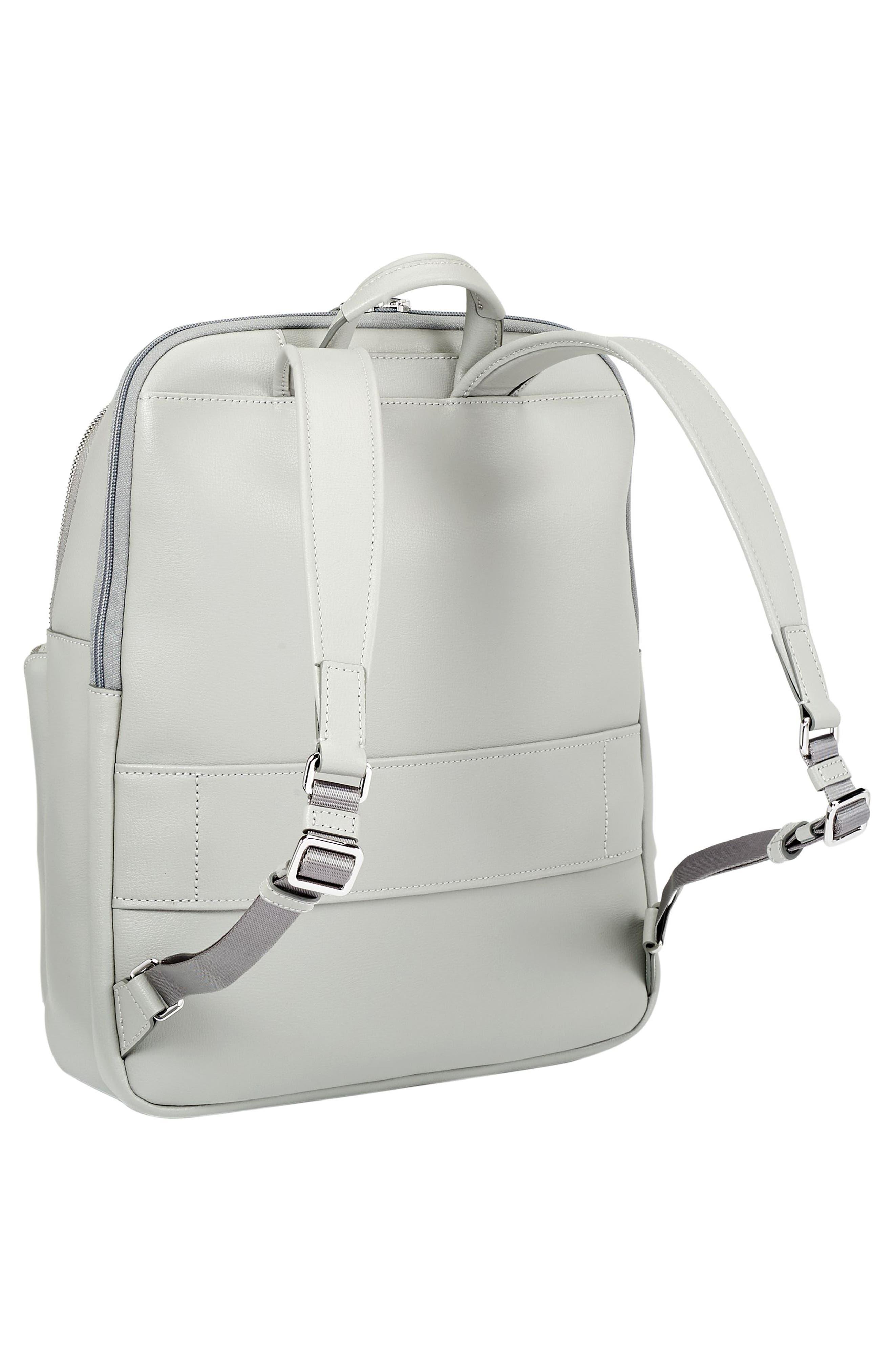 Stanton Hettie Leather Backpack,                             Alternate thumbnail 4, color,                             Light Grey